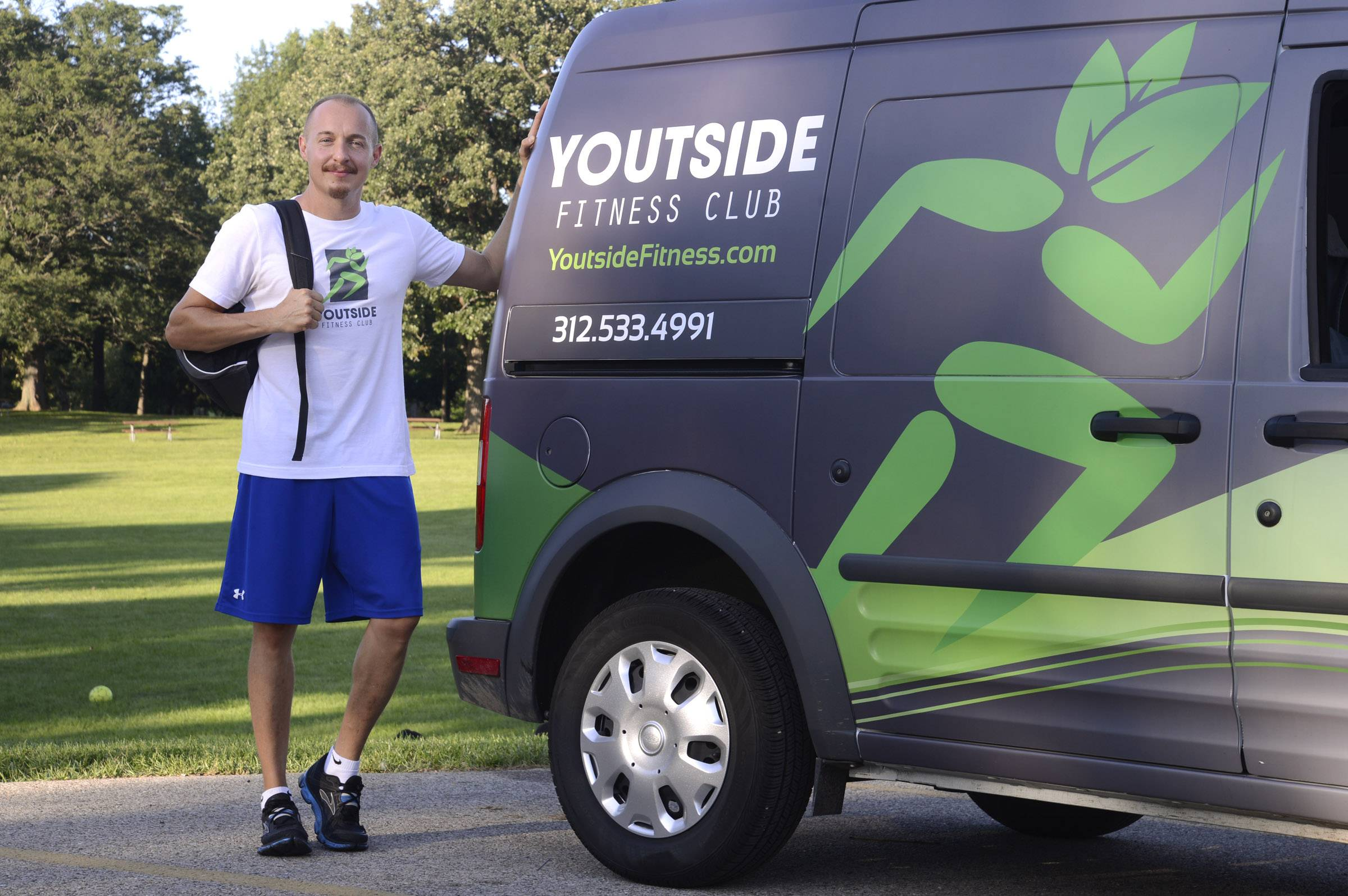 Youtside Fitness Club debuted with three locations in Chicago in April, followed by its first suburban location at Wing Park in Elgin in mid-August. Pictured is trainer Gary Nielsen of Carpentersville.