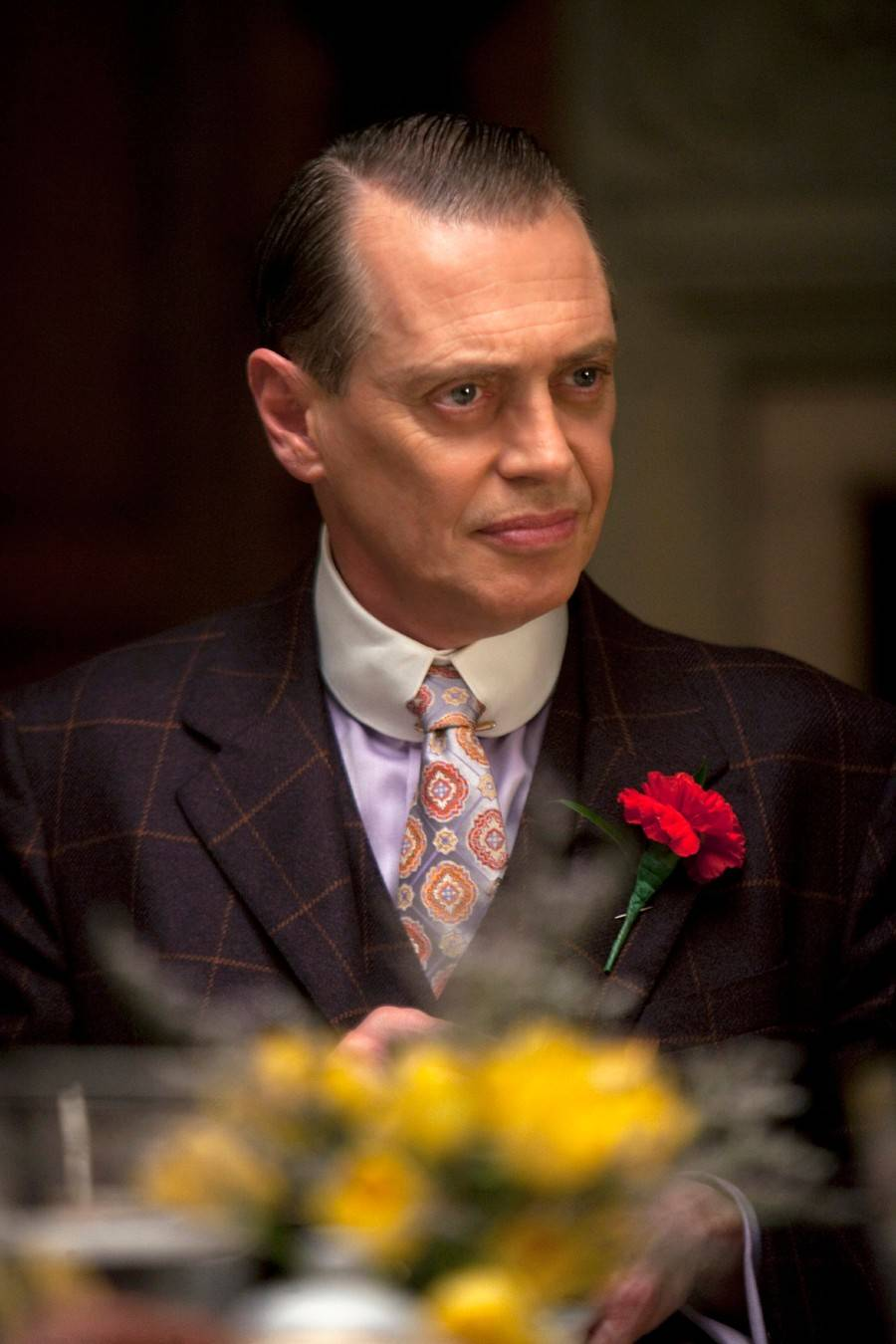 "Steve Buscemi returns as Nucky Thompson for the final eight episodes of HBO's ""Boardwalk Empire."" Season 5 premieres Sunday night."