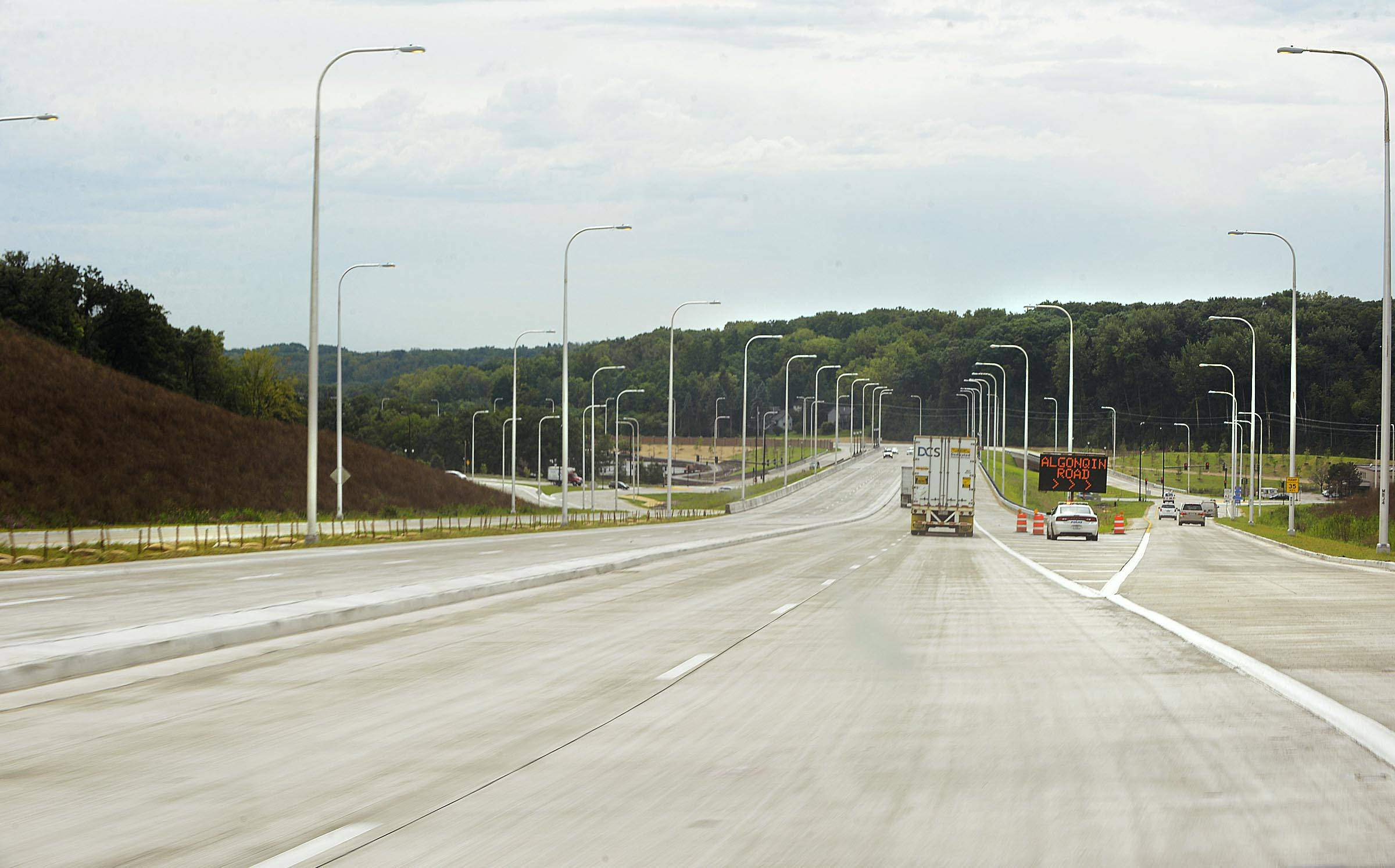 It was smooth sailing for vehicles using the new Route 31/Algonquin Bypass after it opened Thursday.