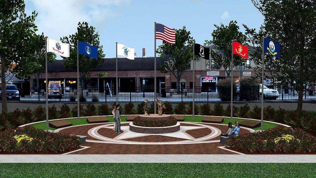 While construction will start next month, another $50,000 must be raised to fully fund the planned Veterans Memorial at Depot Park in Roselle.