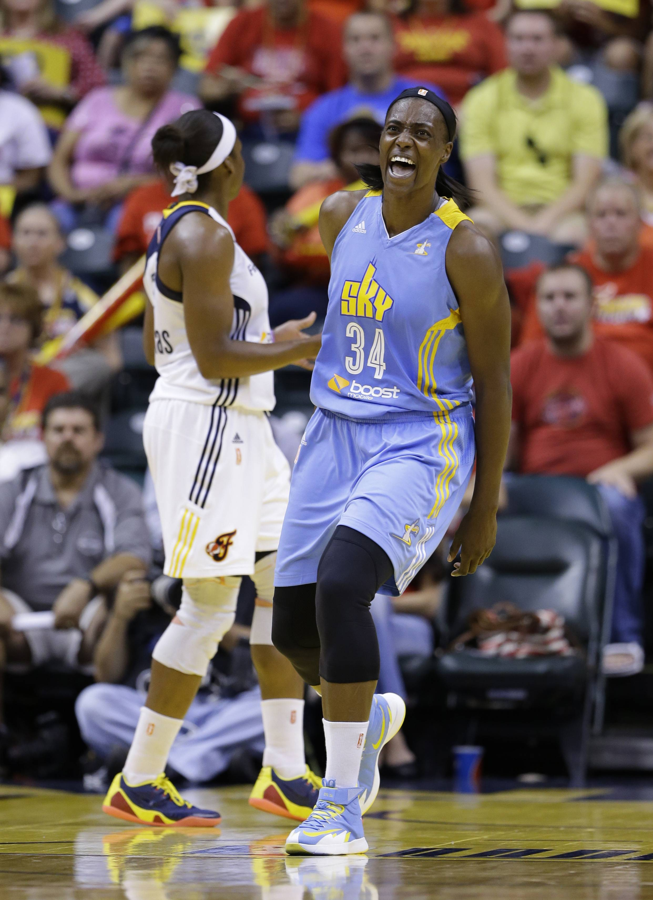 After seven years with the Chicago Sky, all-star center Sylvia Fowles (34) will play in the WNBA Finals. The Sky travels to Phoenix to take on the Mercury on Sunday in Game 1.