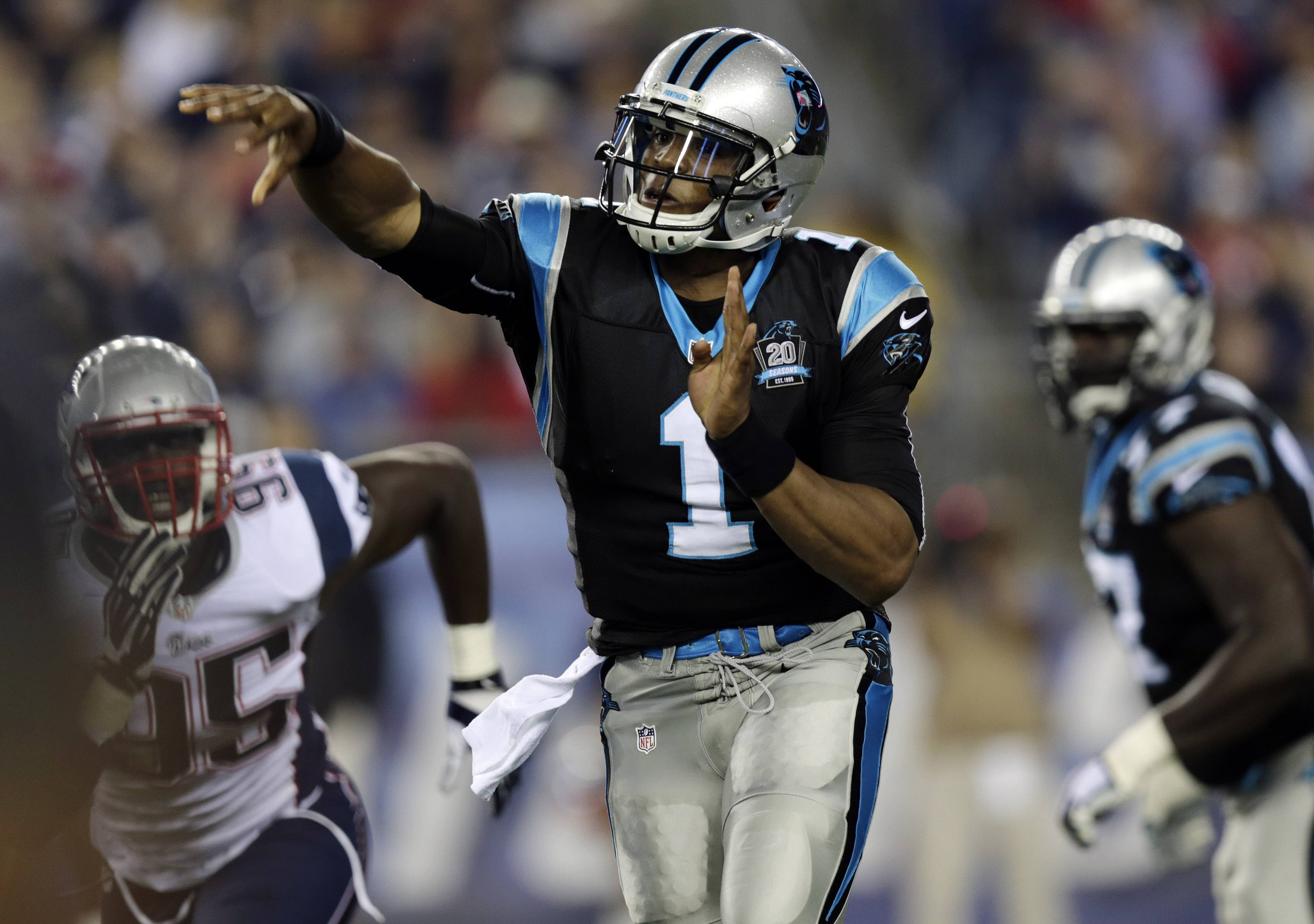Cam Newton, who will be a gametime decision on Sunday, is a risky play according to fantasy football writer John Dietz