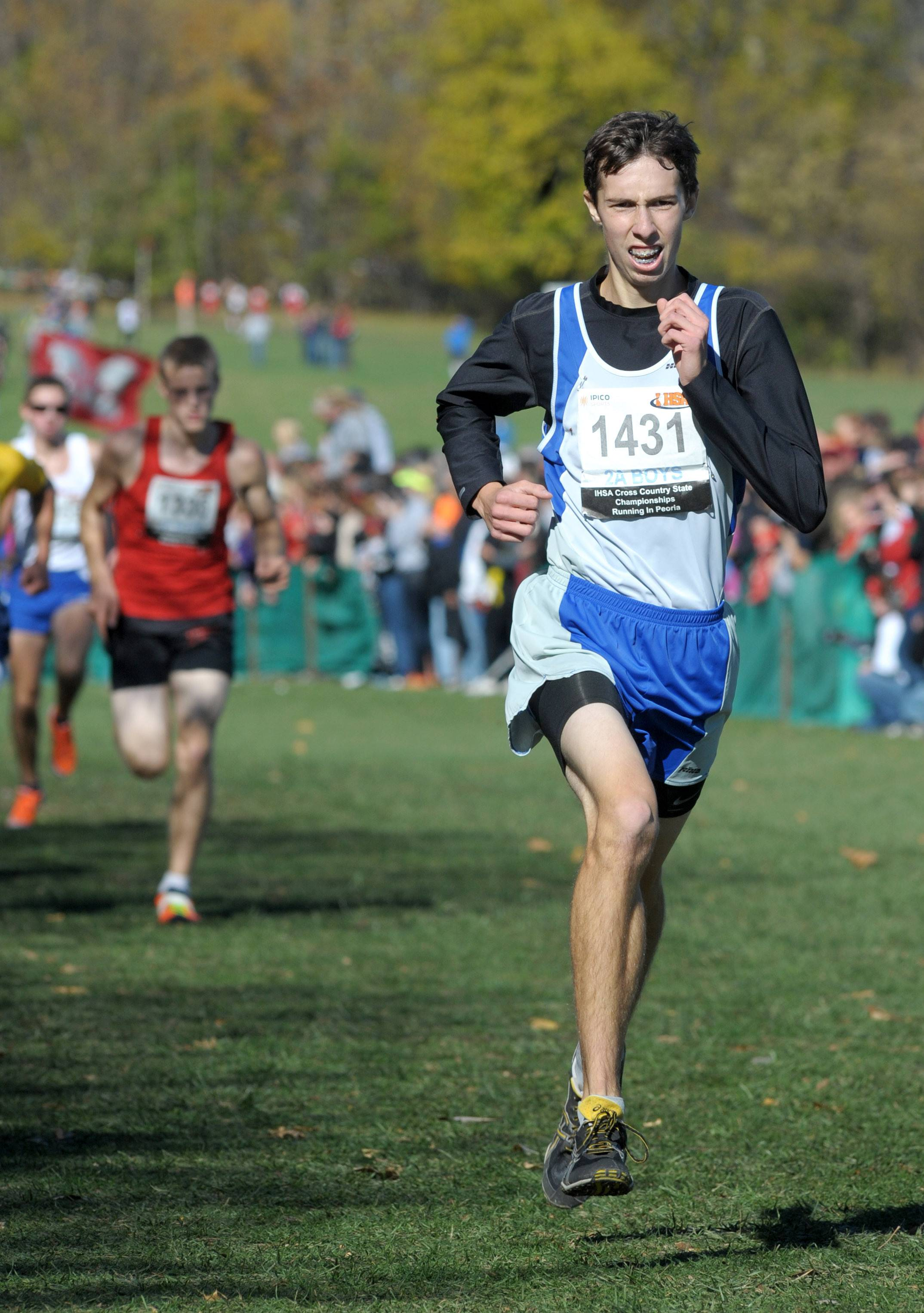Burlington Central's Clay Musial is a returning state qualifier who finished in 26th place in the Class 2A state finals at Detweiller Park in Peoria last season.