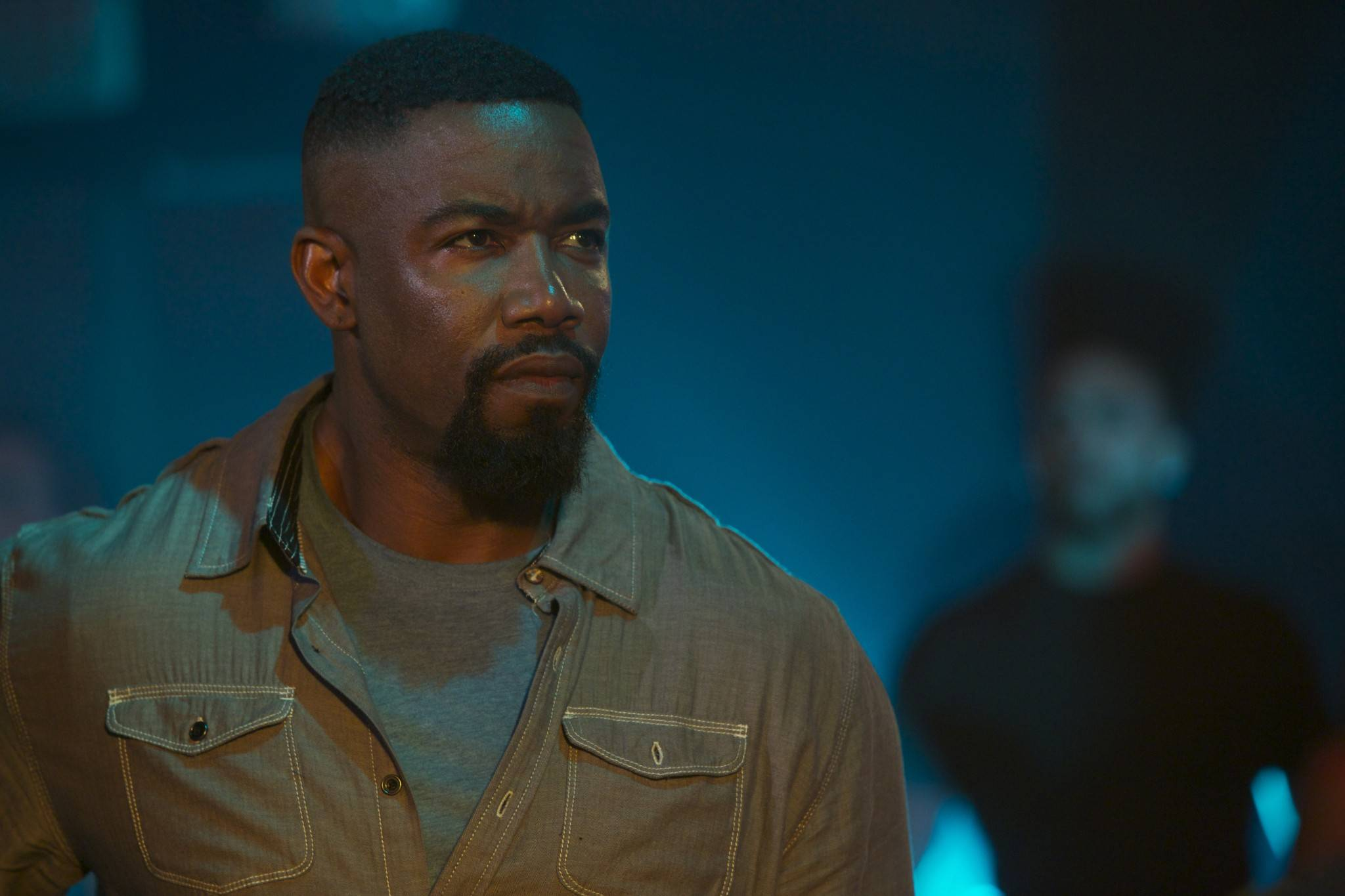 "Michael Jai White plays an ex-soldier who investigates an attack on his sister in the action film ""Falcon Rising."""