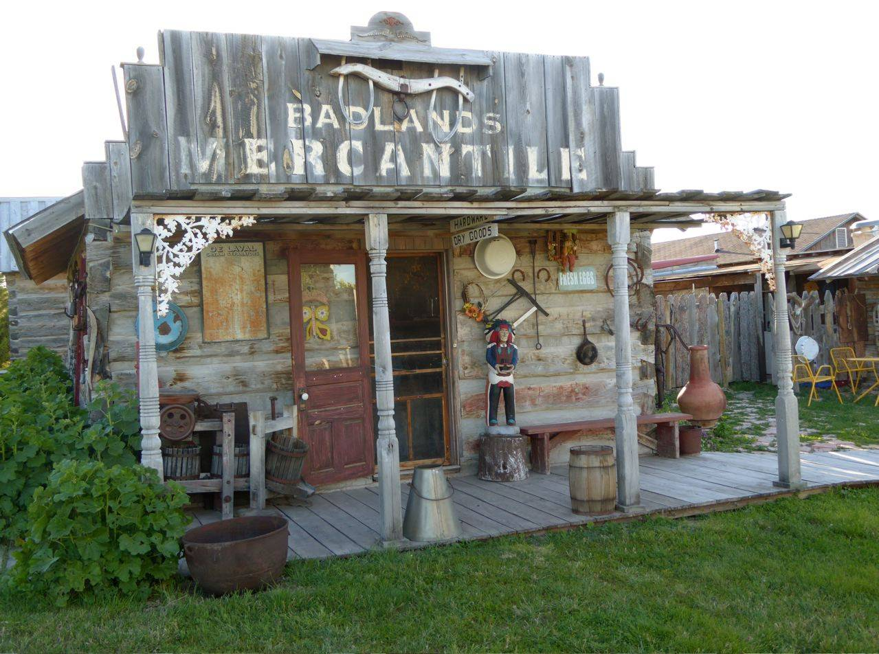 Mercantile building is part of living history collection at High Plains homestead, including lodging.