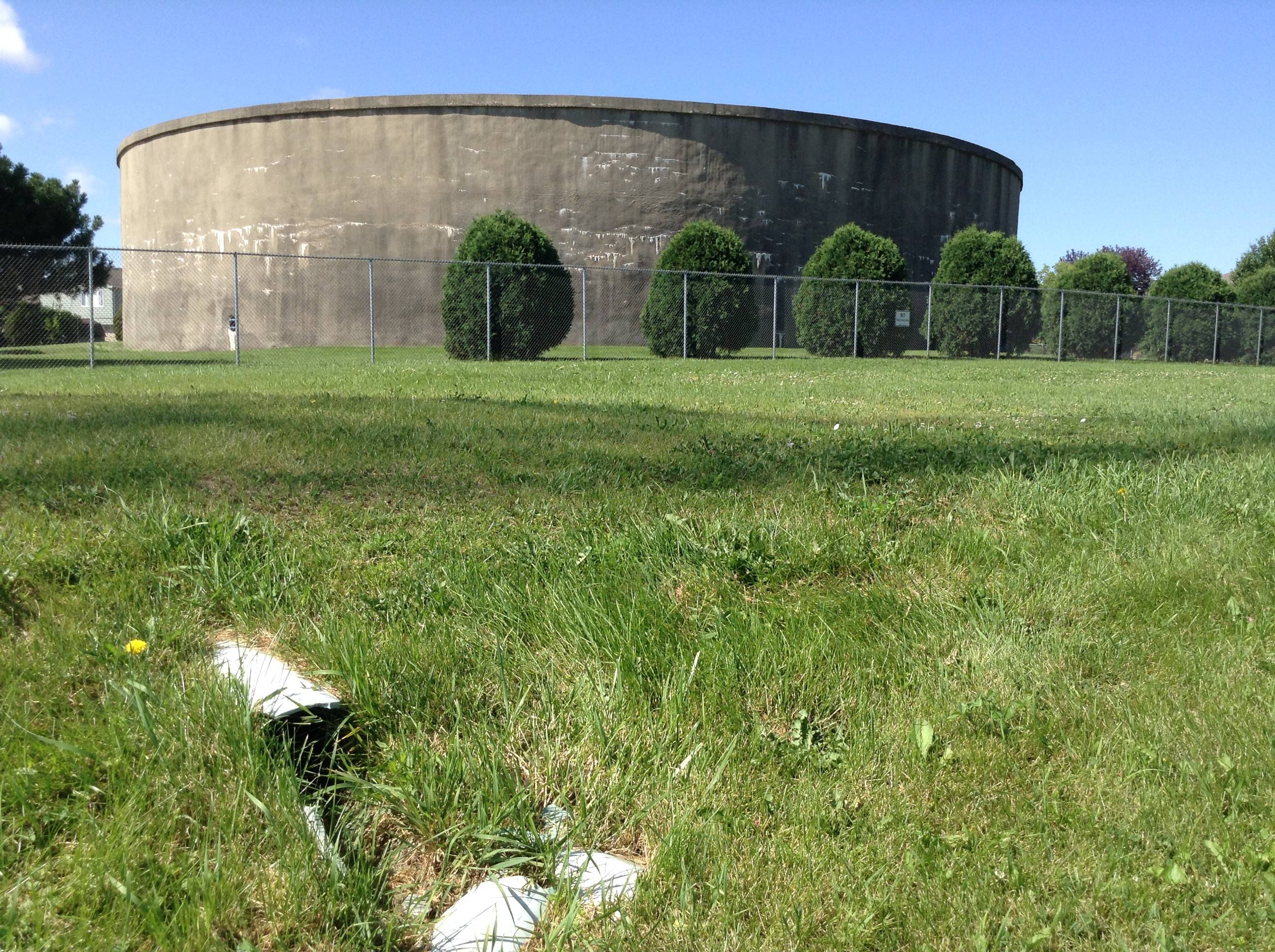 Des Plaines is planning to extend a new water pipe from this storage tank at 877 Central Road to the Northwest Water Commission, located about a mile away.