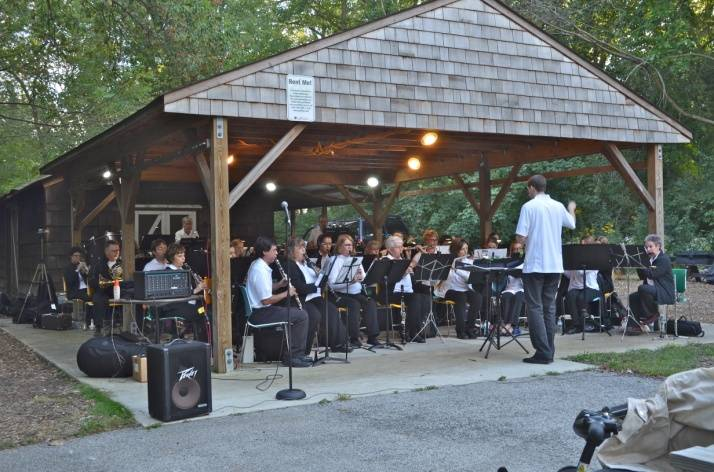 The Spring Valley Community Concert Band performing at Merkle Cabin.Schaumburg Park District