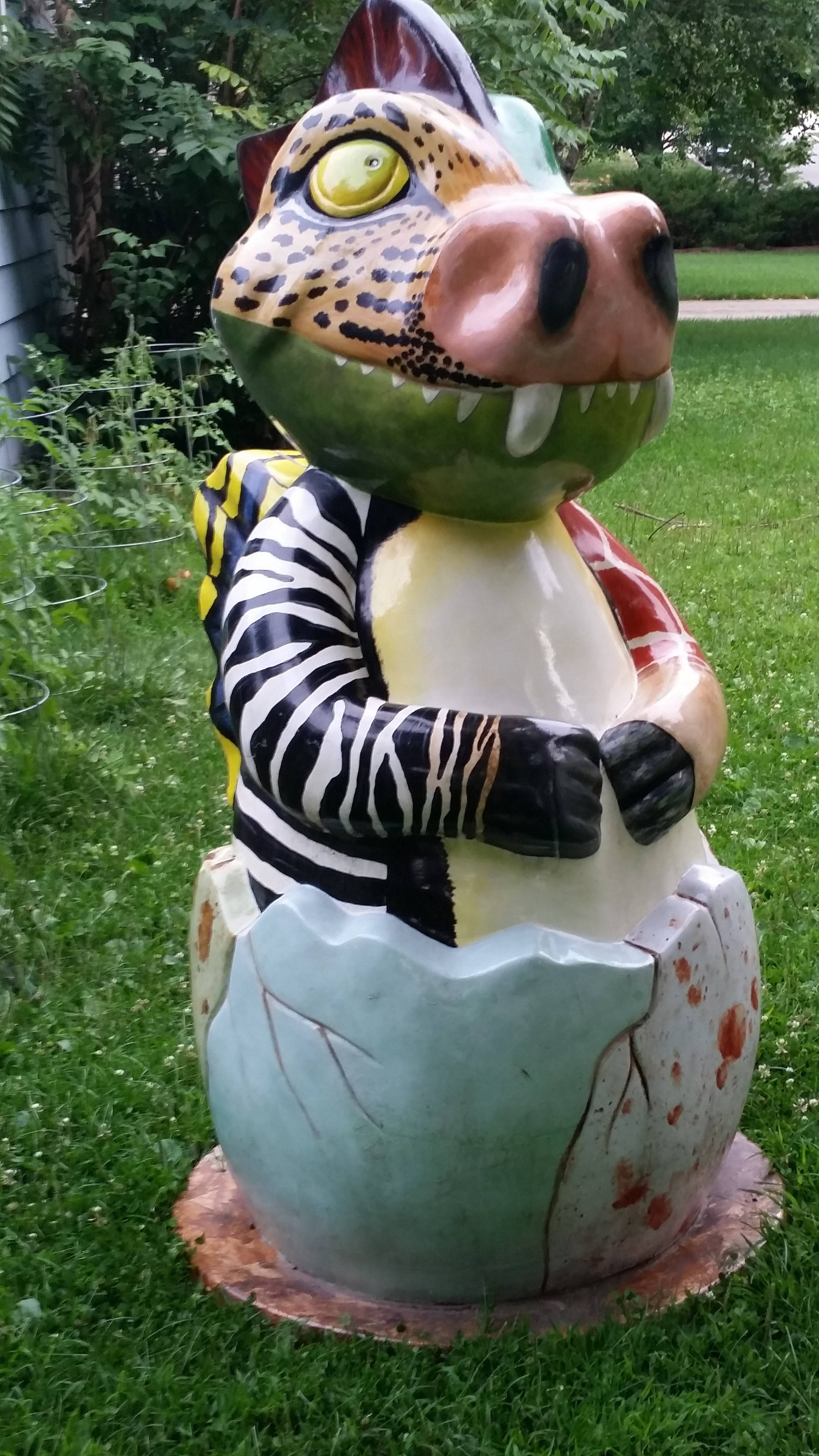 'Gaudiest' Naperville dragon sculpture reported stolen