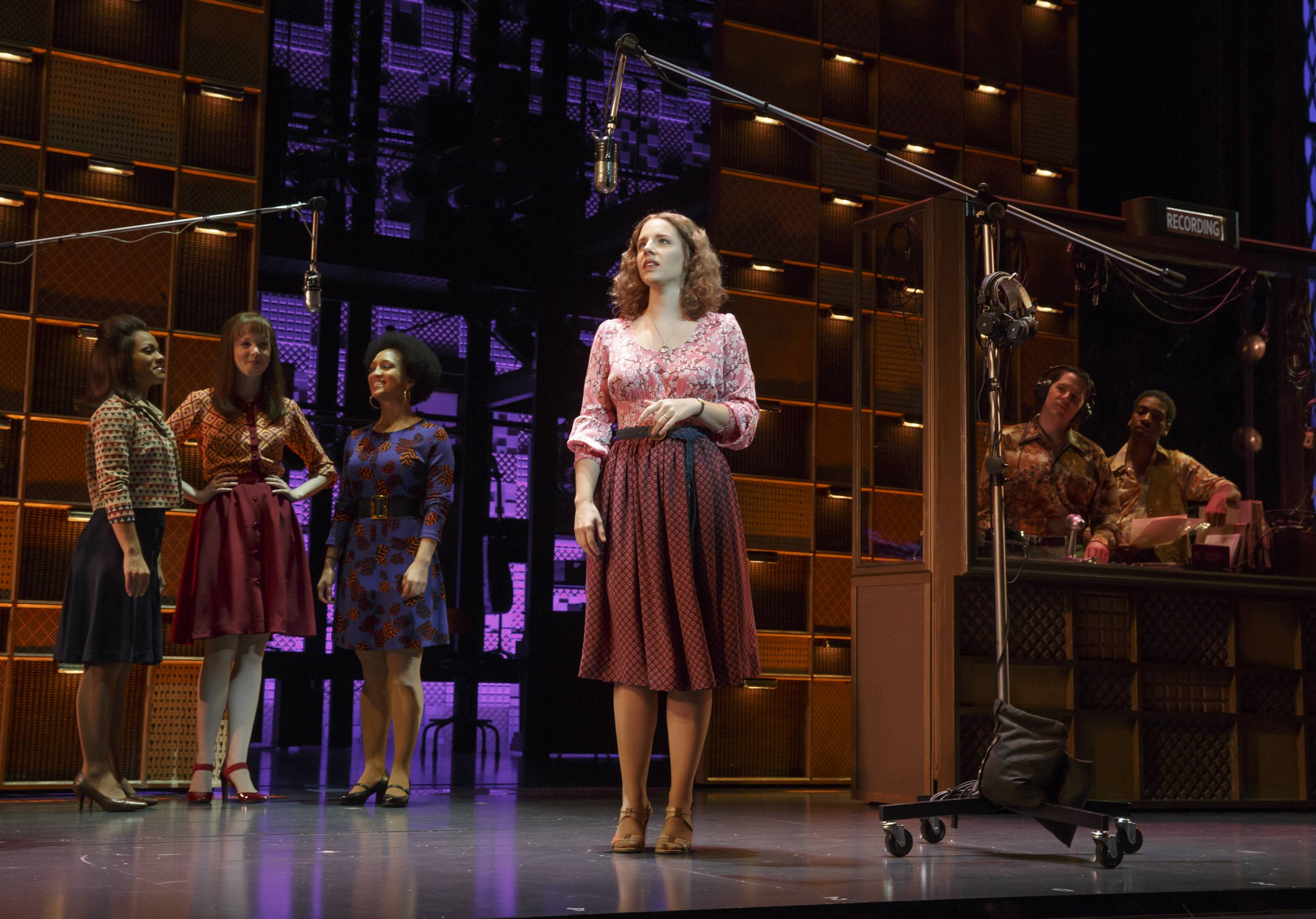 "Jessie Mueller as Carole King performs in ""Beautiful: Carol King the Musical."" Producers said Friday that a London production is due to start and a national tour across America is planned, including a stop in Chicago."