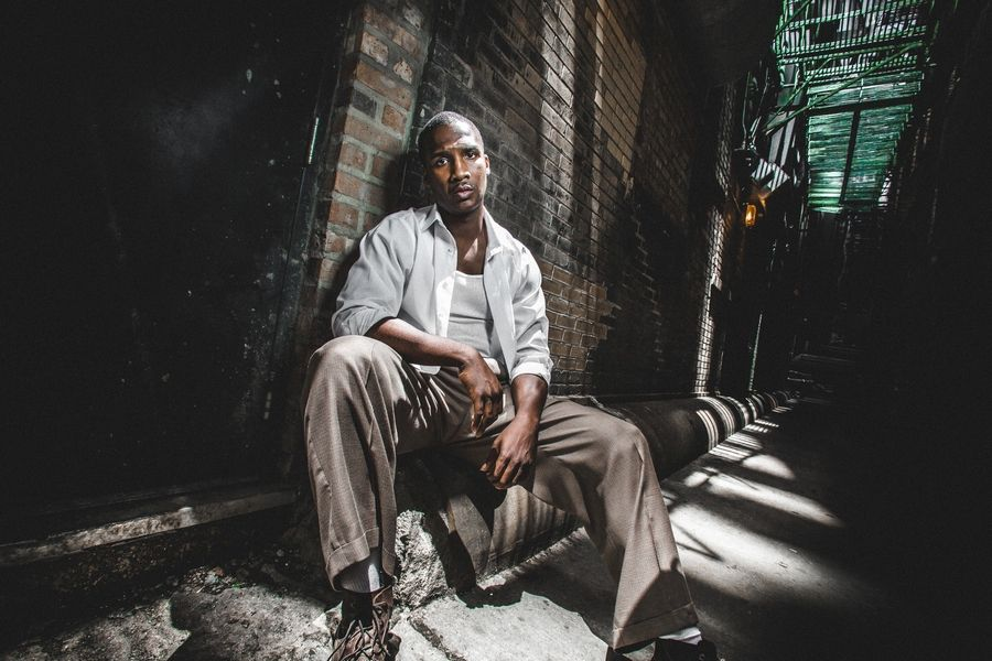 "Jerod Haynes plays Bigger Thomas in the world premiere of Nambi E. Kelley's adaptation of Richard Wright's novel ""Native Son,"" co-produced by Court Theatre and American Blues Theater."