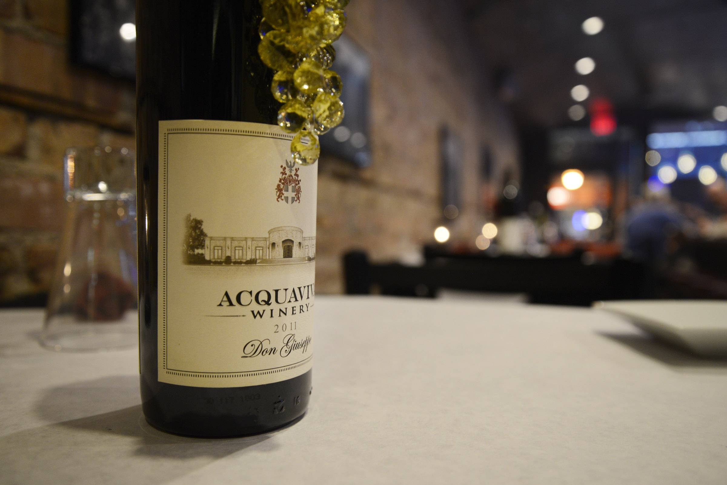 Acquaviva wines, made at the Maple Park winery, are available at the Acquaviva Tasting and Wine Bar in St. Charles.