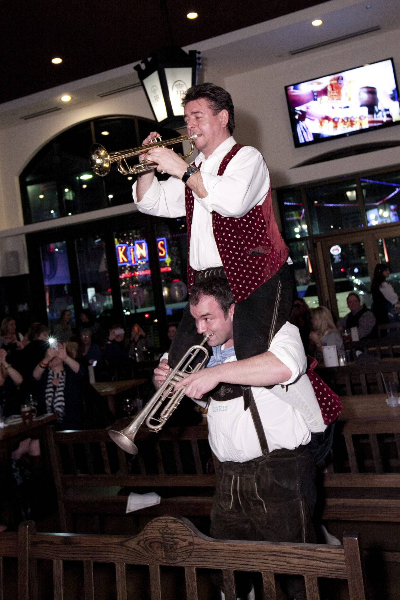 German buglers are among the featured acts scheduled to perform during the Oktoberfest celebration at Hofbrauhaus Chicago in Rosemont.