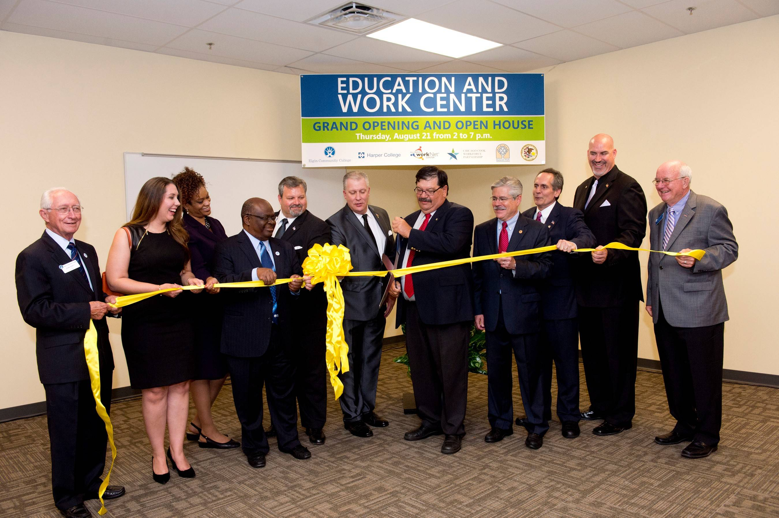 """We had a grand opening, and it rained like the devil that night,"" Hanover Park Mayor Rodney Craig said of a leaky roof at the new Education and Work Center."