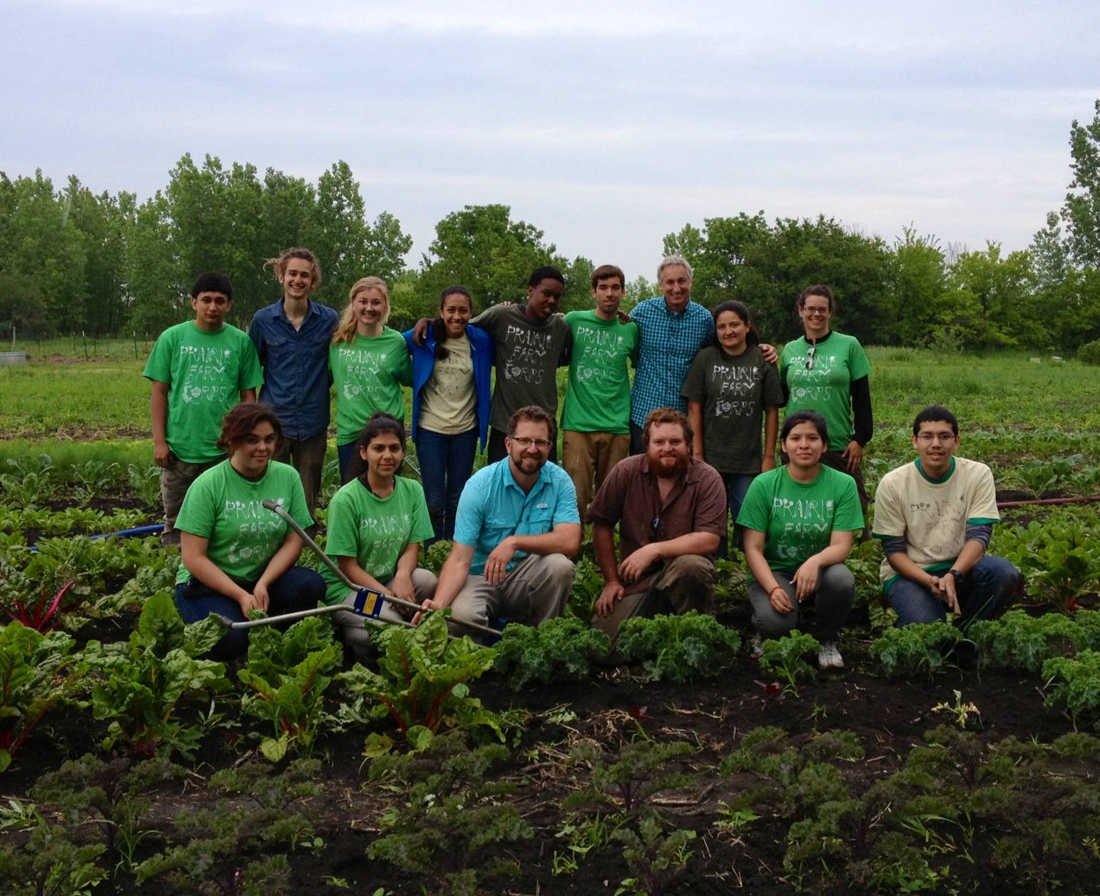 Joe Lamp'l, Growing a Greener World Host and Executive Producer, with participants in the Prairie Farm Corps youth development program at the Prairie Crossing Farm in Grayslake.Erin Cummisford