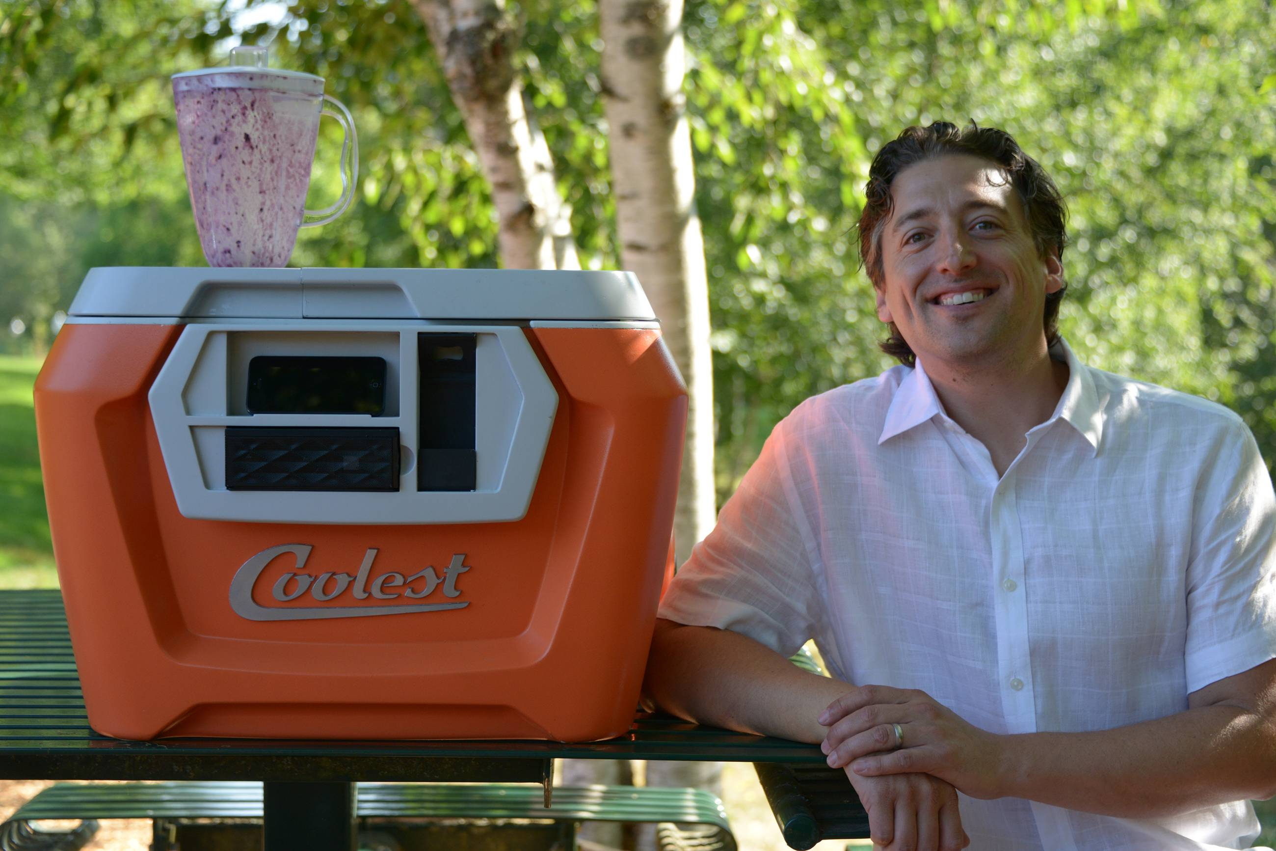 "Ryan Grepper invented the ""Coolest,"" which combines a cooler with a blender, USB charger for devices, music player and other features. Grepper's Kickstarter project for the product generated more than $12 million in crowdfunding pledges, the most in Kickstarter's five-year history."
