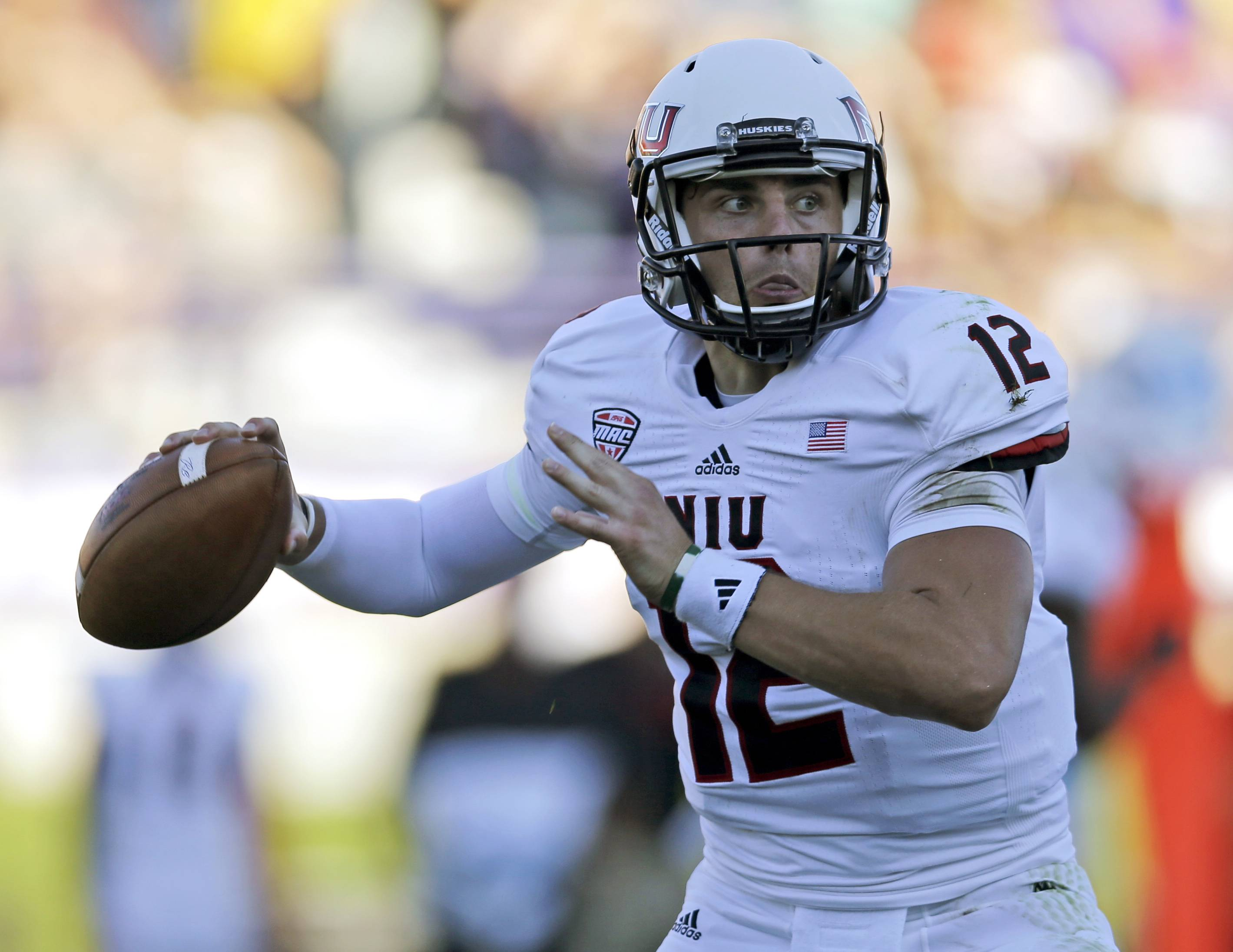 Drew Hare, one of three Northern Illinois quarterbacks, played the entire second half Saturday against Northwestern. He completed 6 of 10 passes for 90 yards and a pair of touchdowns.