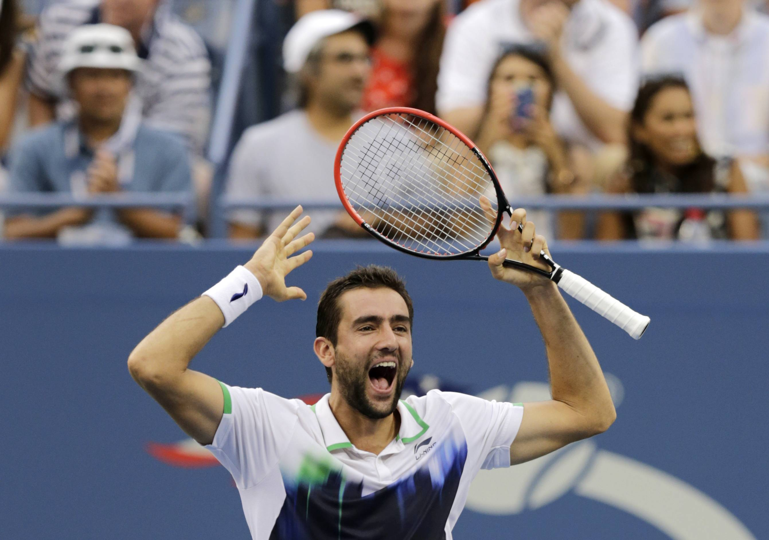 Marin Cilic, of Croatia defeated Roger Federer of Switzerland during the semifinals of the 2014 U.S. Open tennis tournament Saturday in New York.