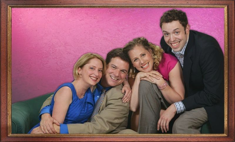 "Kelly Anne Clark, from left, Bernie Yvon, Johanna McKenzie Miller and Alex Goodrich starred in Marriott Theatre's ""I Love You, You're Perfect, Now Change,"" a musical revue chronicling the stages of romance from dating to parenthood to divorce to death."