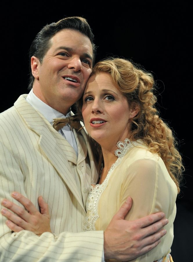 "Director Gary Griffin tapped top-flight talent Bernie Yvon and Johanna McKenzie Miller to star as smooth-talking Harold Hill and skeptical Marian Paroo in Marriott Theatre's ""The Music Man."""