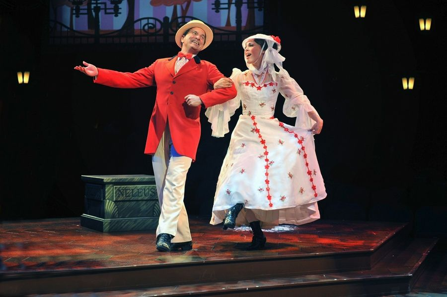 "Mary (Summer Naomi Smart) and Bert (Bernie Yvon) enjoyed a jolly holiday in director Gary Griffin's production of ""Mary Poppins"" last winter at the Marriott Theatre in Lincolnshire."