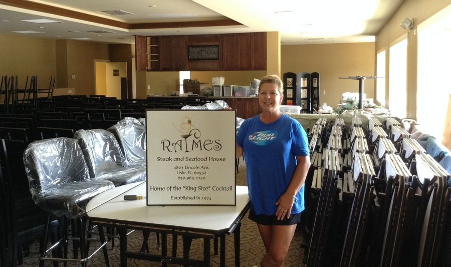 Owner Jerri Nolan stands inside the new Raymes Steak and Fish House in Lisle. The restaurant, which was damaged by flooding in April 2013, is reopening in a new building the week of Sept. 15.