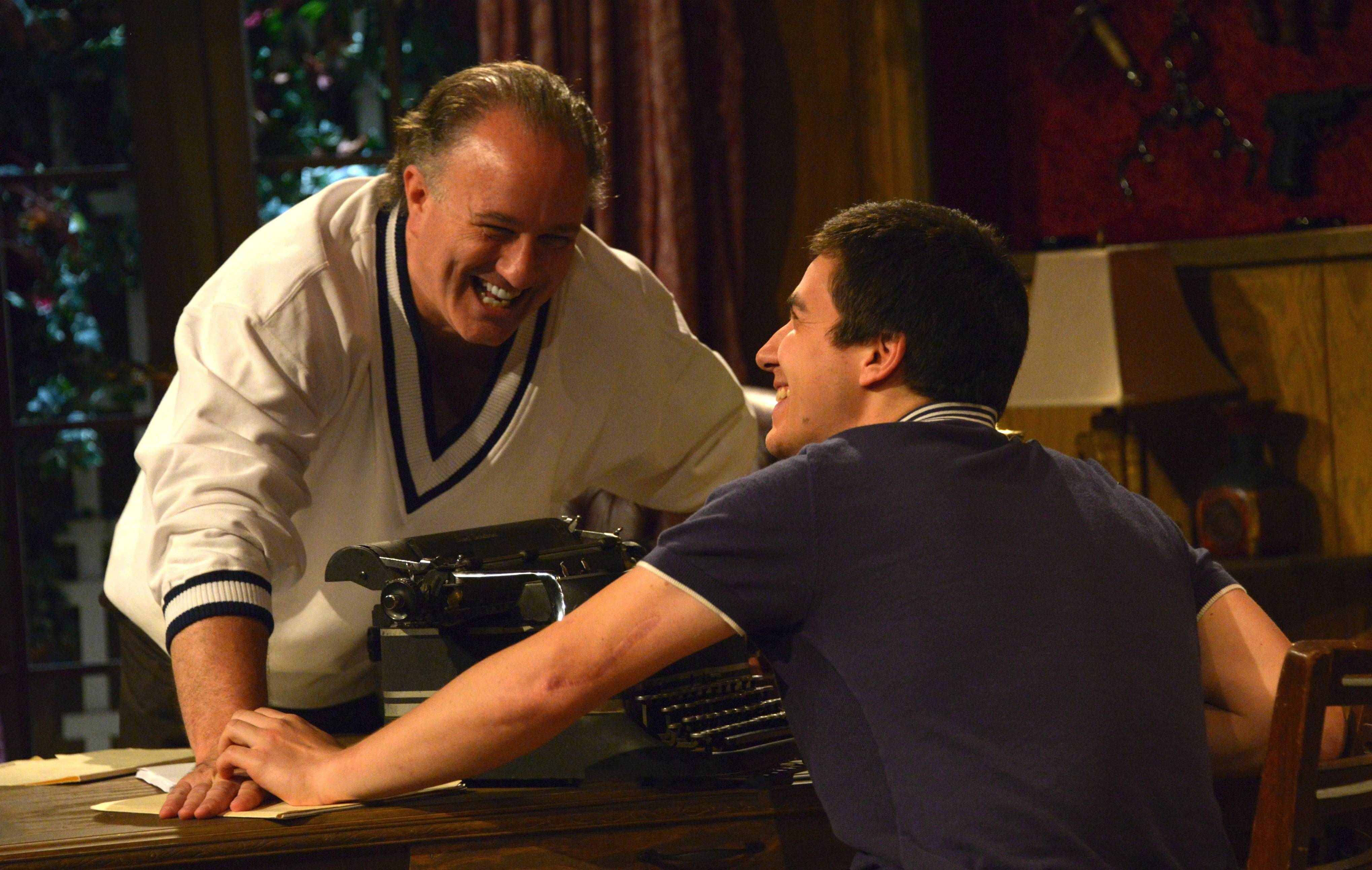 "Veteran playwright Sidney (Chuck Quinn) schemes to pull one over on the aspirational playwright Clifford (Neil Phelps) in Citadel Theatre Company's production of Ira Levin's thriller ""Deathtrap"" in Lake Forest, playing through Sunday, Oct. 5."