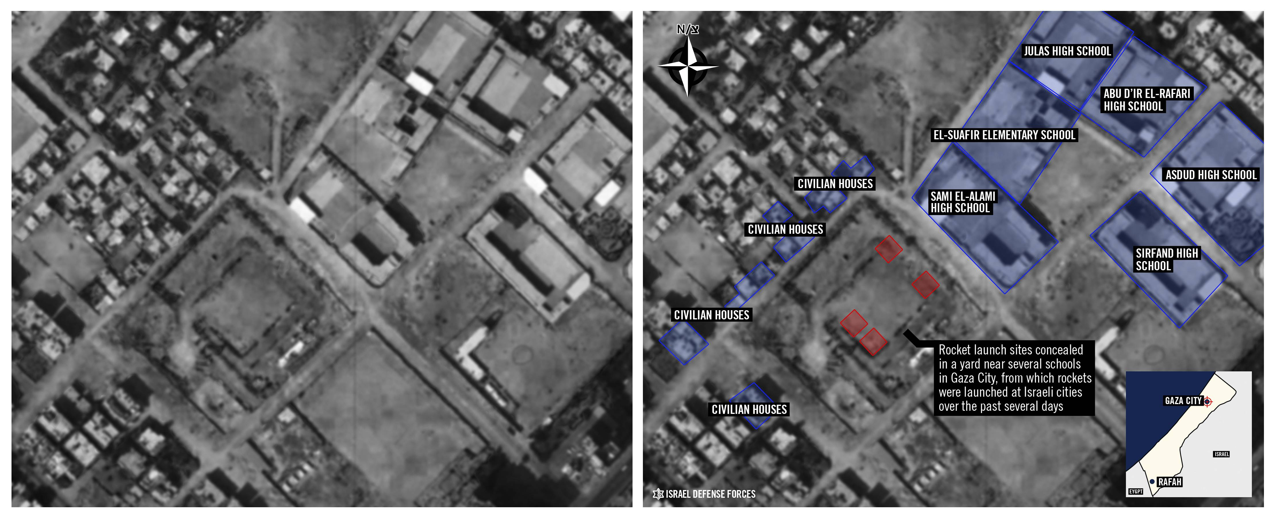 Evidence growing that Hamas used residential areas as cover
