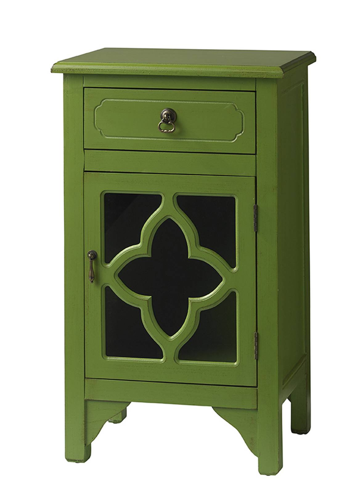 This Accent Table Has A Scandinavian Cottage Vibe, In A Rich Green That  Provides A