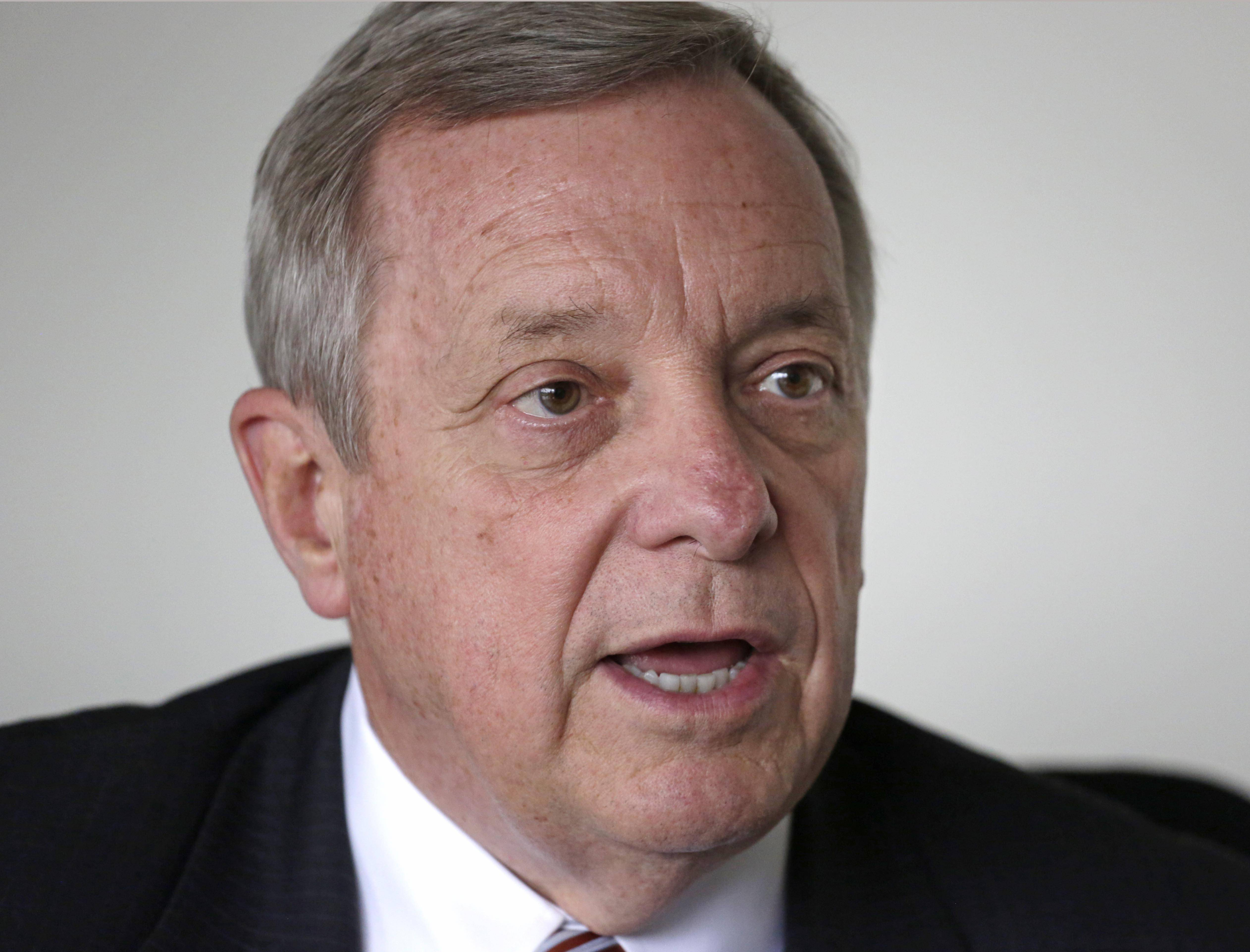 Durbin denies 'bullying' Illinois businesses