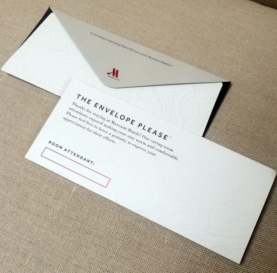 Marriott Will Be Placing Envelopes Likes These In 160000 Hotel Rooms The US And Canada