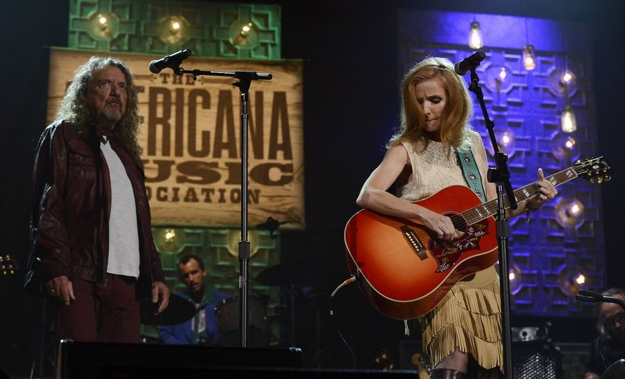 Robert Platt and Patty Griffin perform during the Americana Music Honors and Awards show Wednesday in Nashville, Tenn.