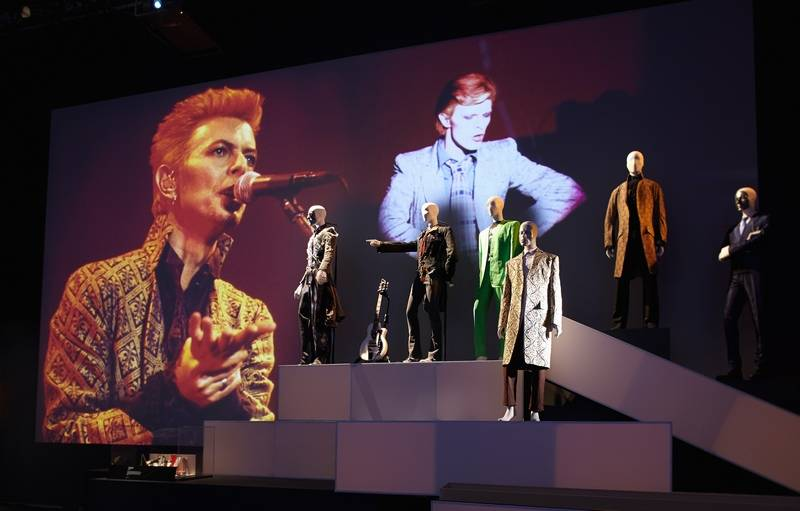 """David Bowie Is"" includes costumes, photography and more from the singer's long, ever-evolving career as an artist."