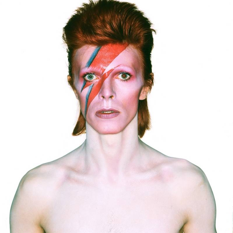 "Among the photos displayed in the ""David Bowie Is"" exhibit at Museum of Contemporary Art is the album cover shot for 1973's ""Aladdin Sane."""