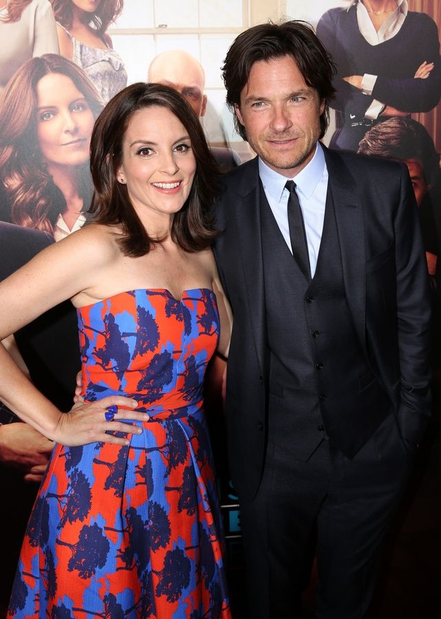 "Tina Fey, left, and Jason Bateman arrive at the Los Angeles premiere of ""This Is Where I Leave You"" at the TCL Chinese Theatre in Los Angeles."