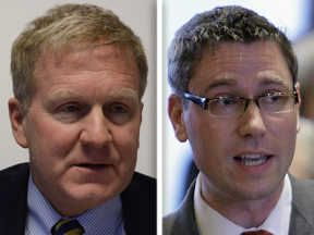 Republican Tom Cross, left, and Democrat Michael Frerichs are candidates for  Illinois treasurer on Nov. 4.