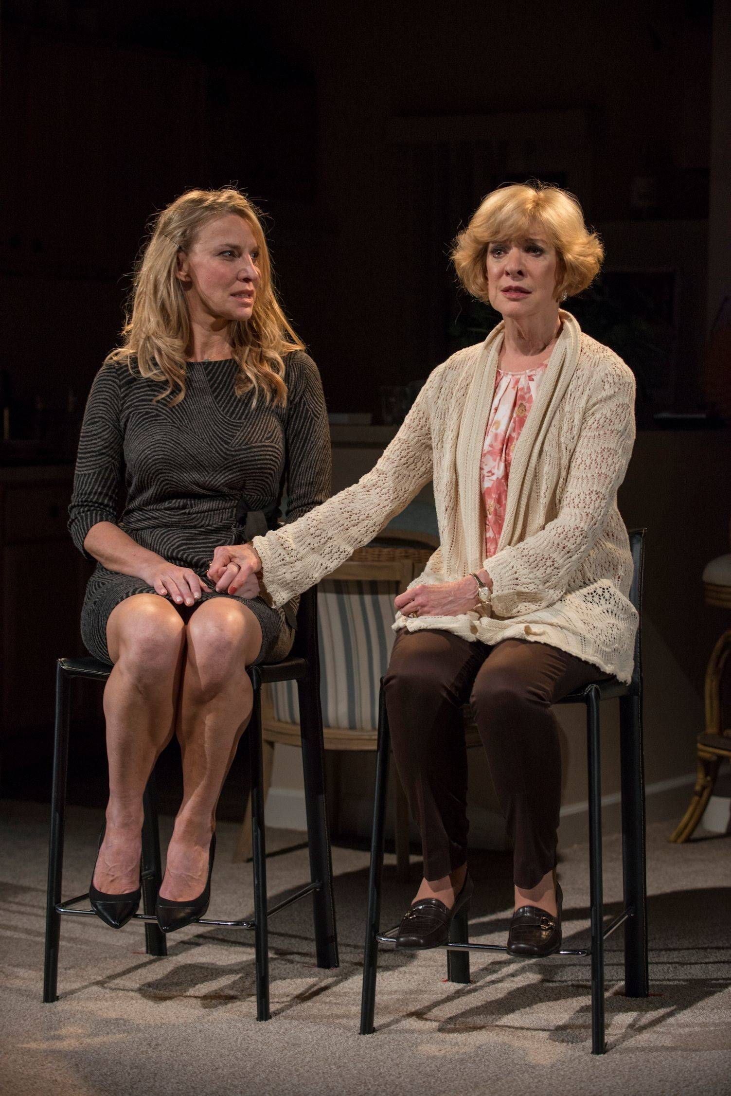 "Becca (Lusia Strus) and her mother, Judith (Linda Kimbrough), contemplate their family ties to a disgraced Wall Street financier in ""The Commons of Pensacola"" at Northlight Theatre in Skokie. The Chicago-area premiere of Amanda Peet's 2013 off-Broadway drama runs through Sunday, Oct. 19."