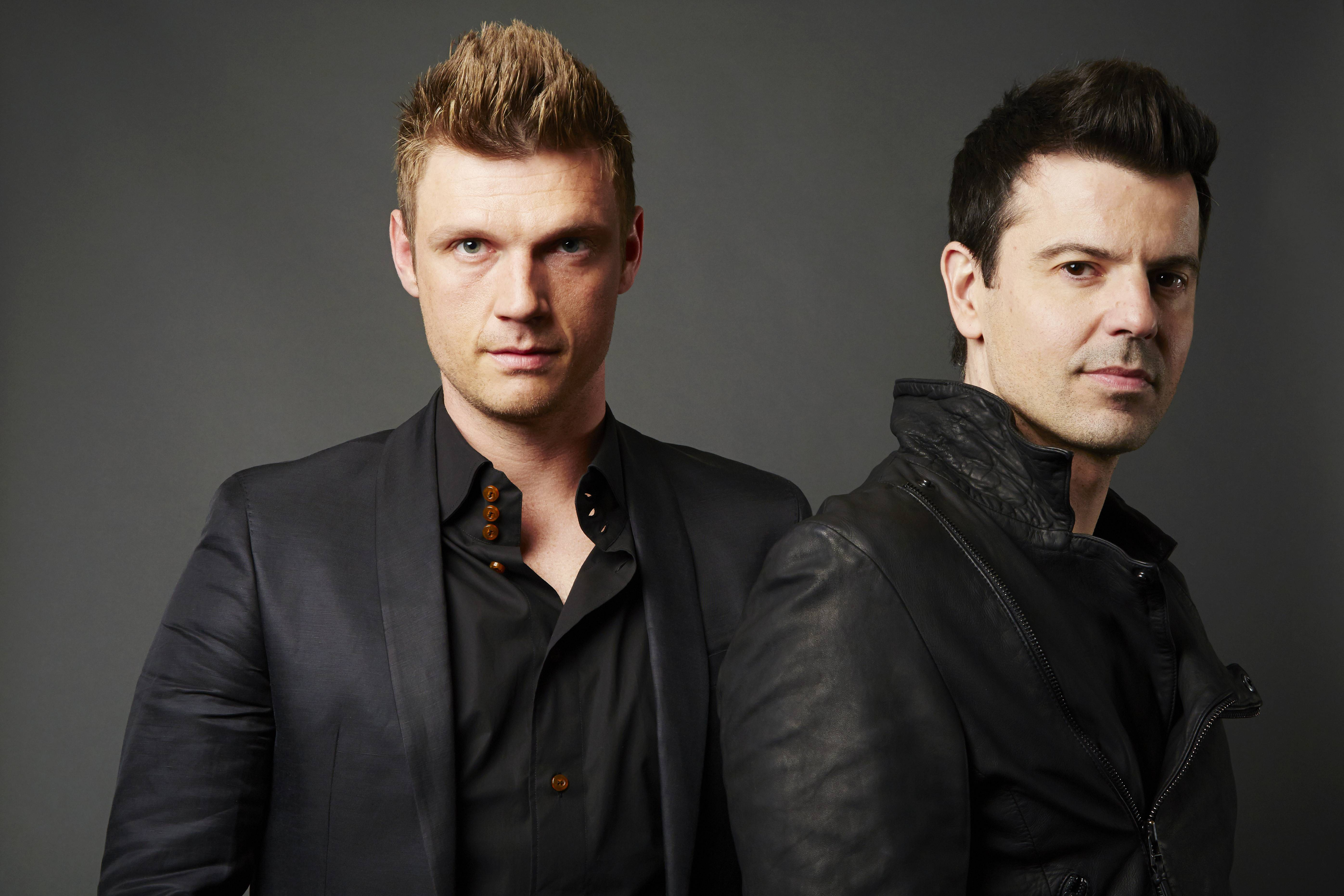 "New Kids On The Block's Jordan Knight, right, and Backstreet Boys' Nick Carter headline the House of Blues in Chicago on Friday and Saturday, Sept. 26-27, in support of their new album, ""Nick & Knight."""