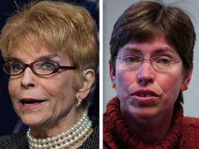 Republican Judy Baar Topinka, left, and Democrat Sheila Simon are running for state comptroller.