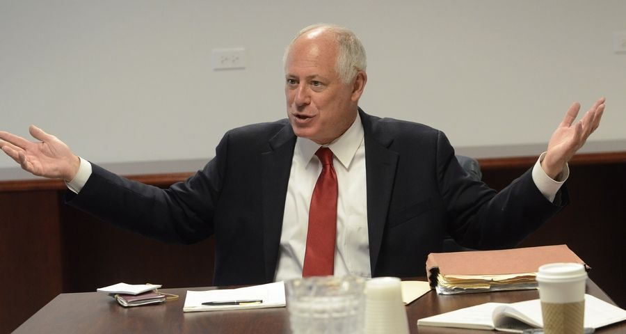 Gov. Pat Quinn met with the Daily Herald editorial board Thursday.
