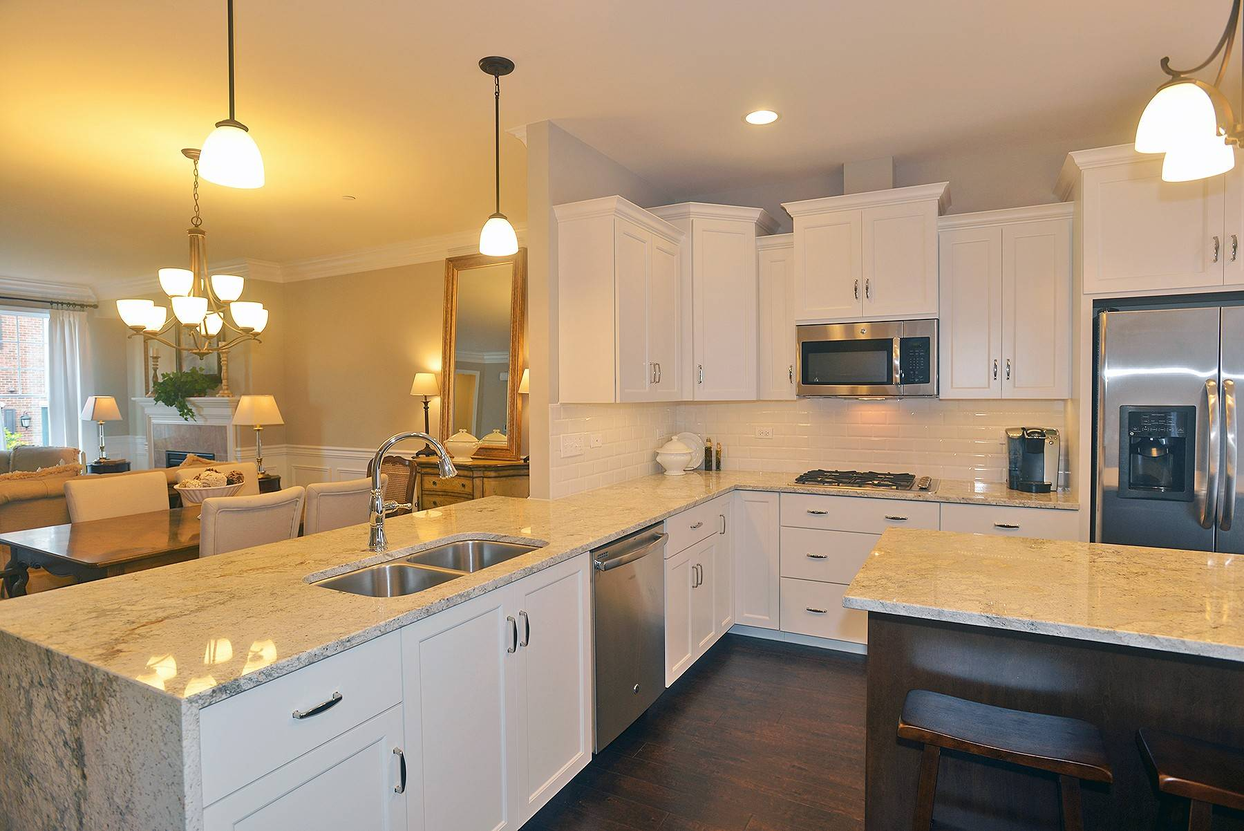 At Courthouse Square In Wheaton, Airhart Construction Offers Floor Plans  With Two Kitchen Islands.