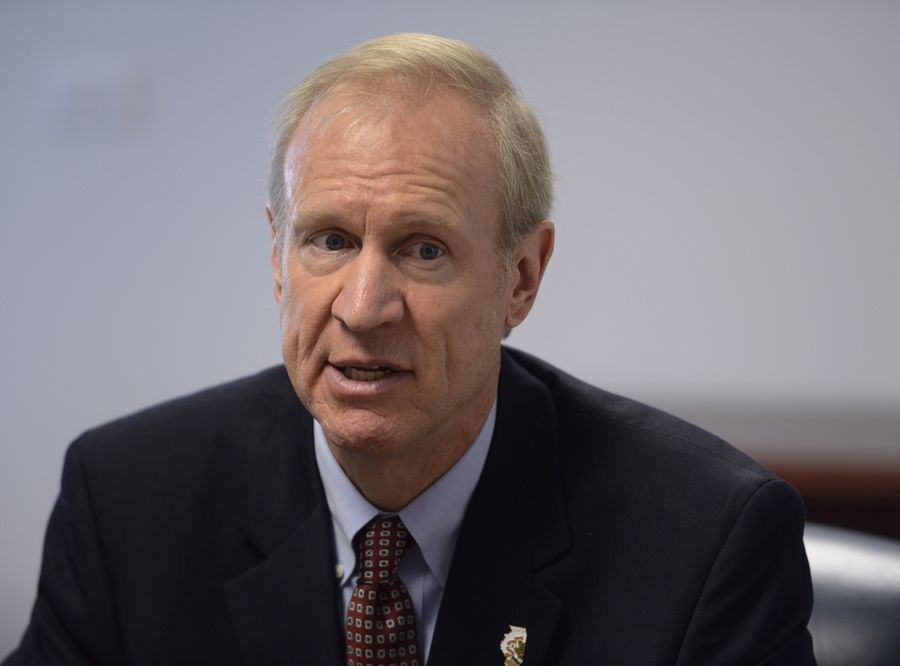 Republican Bruce Rauner met with the Daily Herald editorial board Friday.