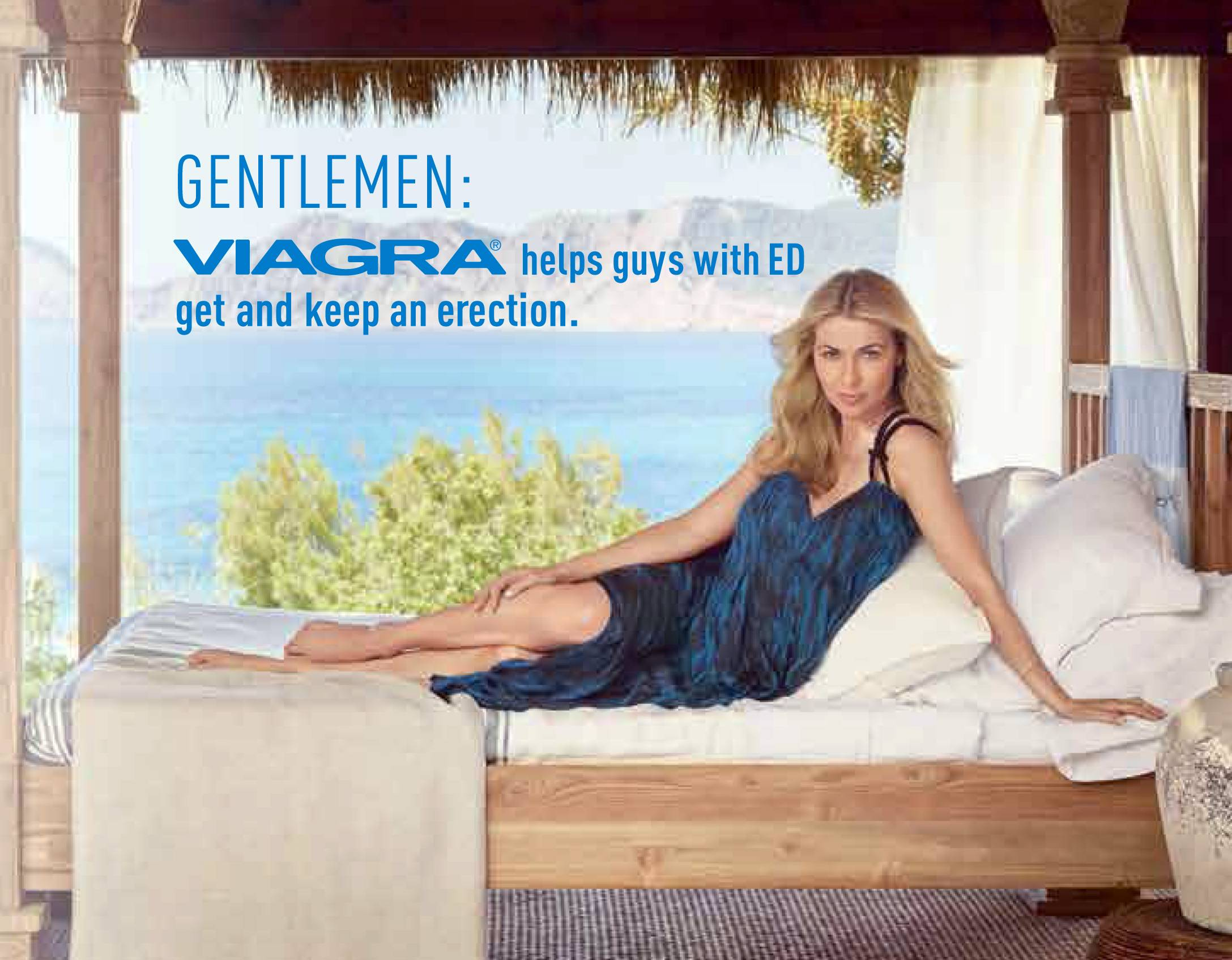 This image provided by Pfizer Inc. shows a new print ad for Viagra, the world's top-selling erectile dysfunction drug. Executives at New York-based Pfizer hope the new ad campaign that launched Tuesday, which includes print ads in publications and a new 60-second television commercial, will nudge women to broach the subject with their mates.