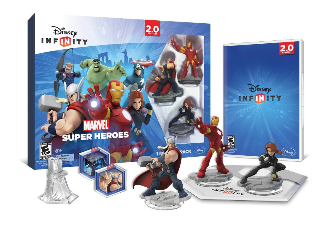 "Thor, left, Iron man and Black Widow are just a few of the figure available for the new ""Disney Infinity 2.0: Marvel Super Heroes"" game."
