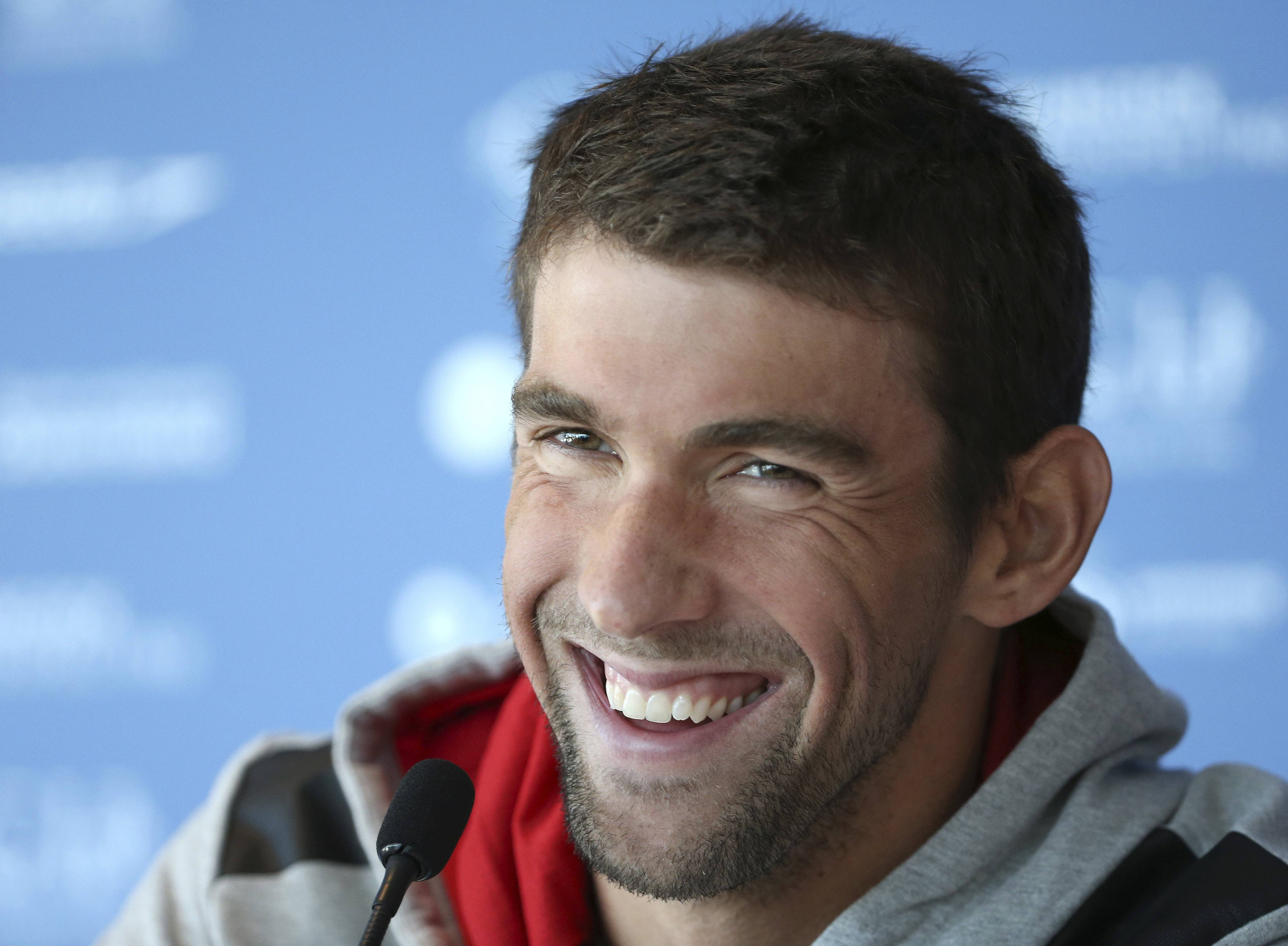 U.S. swimmer Michael Phelps, seen in this file photo from a month ago, was arrested on a DUI charge in Maryland Tuesday morning.