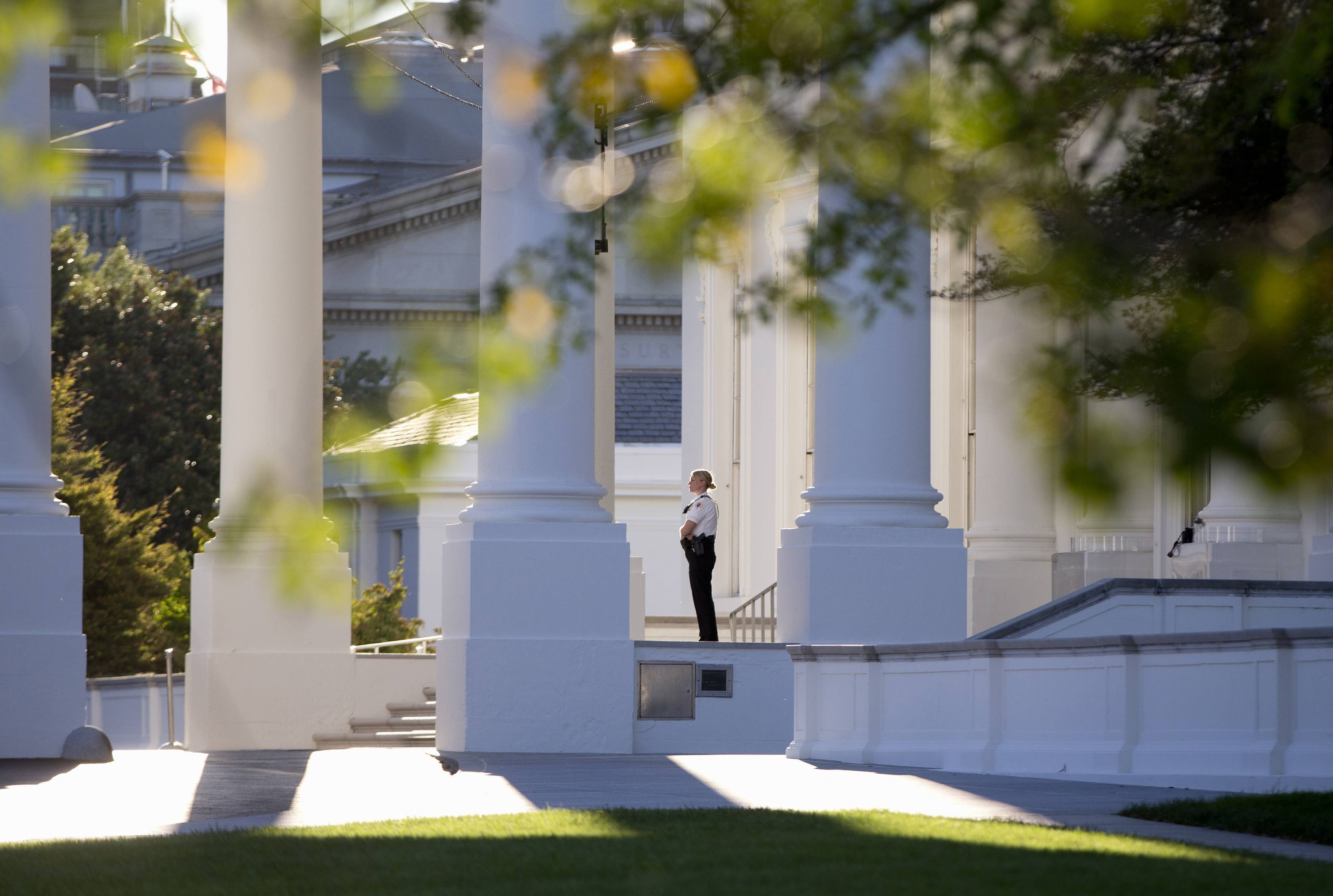 Secret Service Director Julia Pierson said Tuesday the front door to the White House now locks automatically in a security breach.