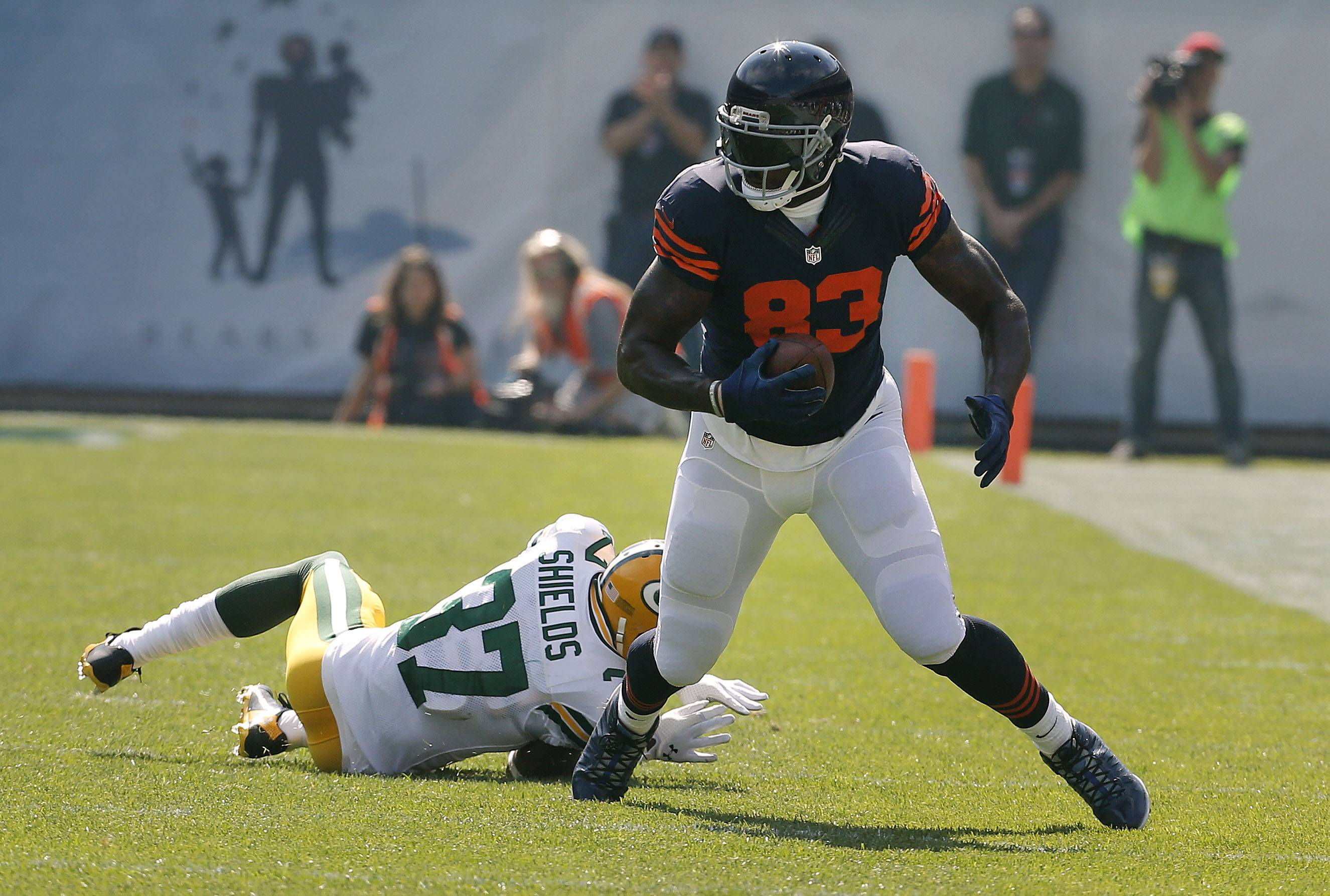 Bears tight end Martellus Bennett, who finally is getting some recognition, caught 9 passes for 134 yards in Sunday's loss to the Packers.