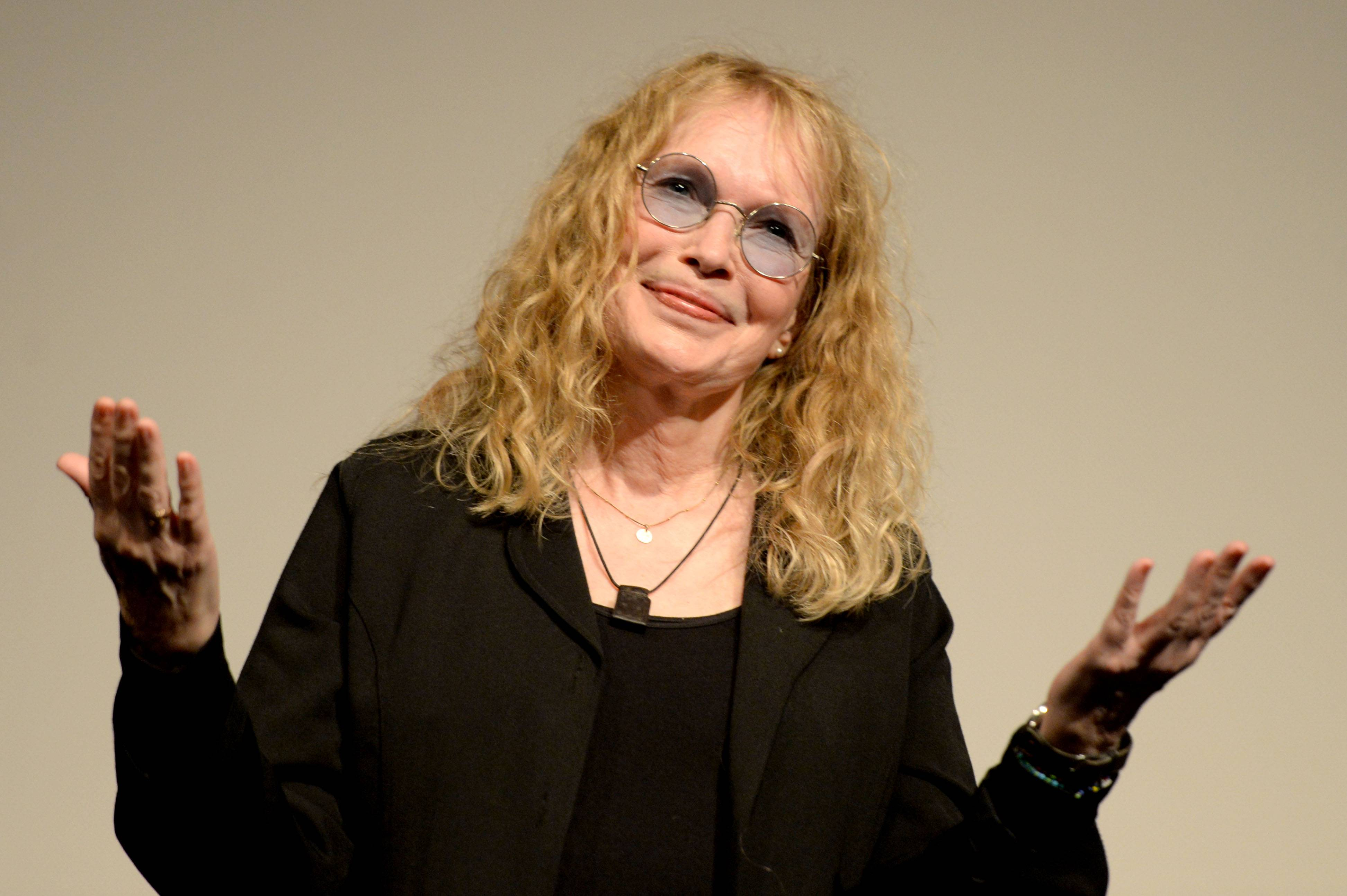 "Mia Farrow, 69, has returned to Broadway for the first time in 16 years to perform in A.R. Gurney's play ""Love Letters,"" in which would-be lovers read aloud letters exchanged over a lifetime."