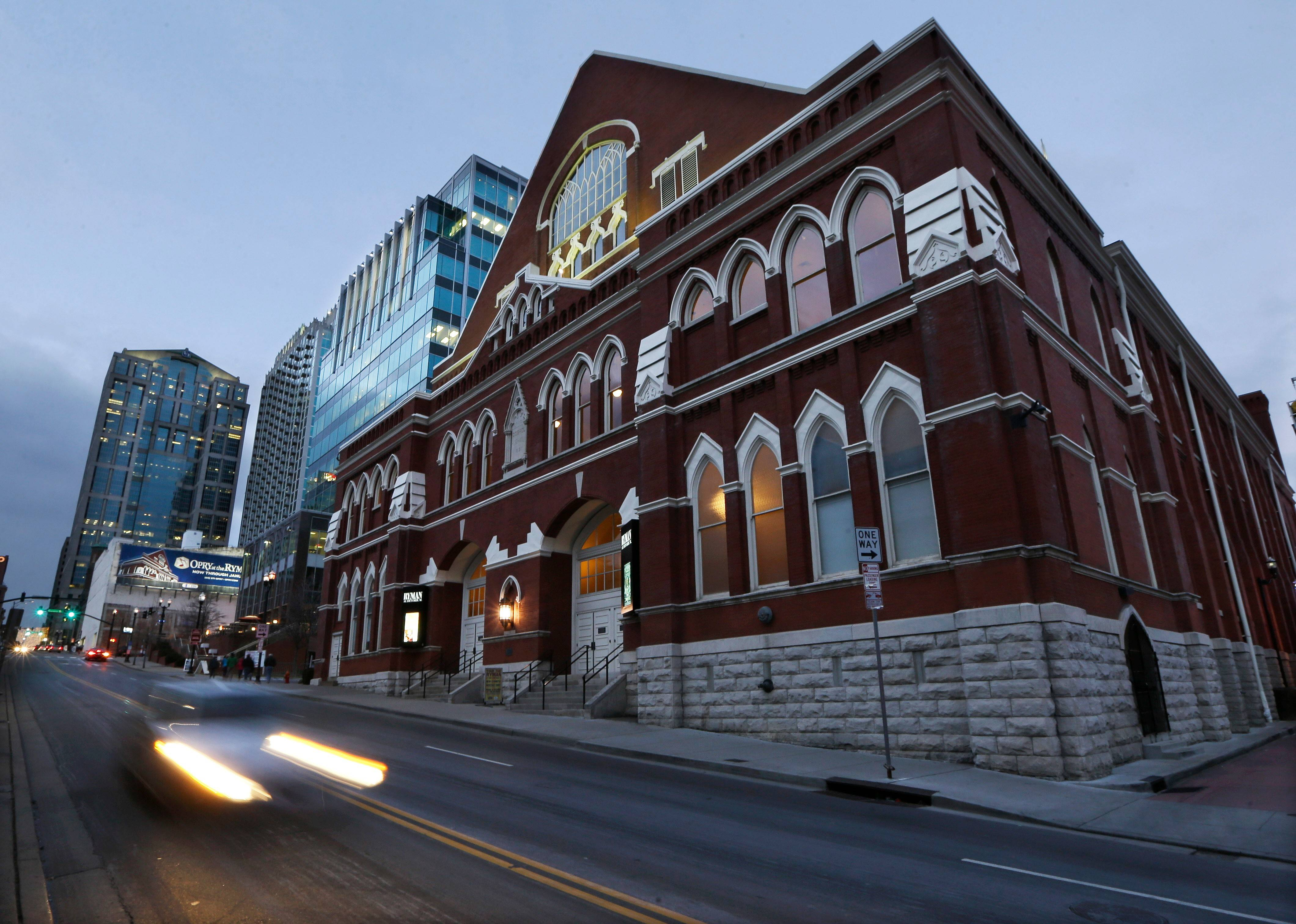 This Jan. 15, 2014 photo shows the Ryman Auditorium in Nashville, Tennessee. The wood floors and pews of the former tabernacle make it one of the best venues anywhere for hearing music.