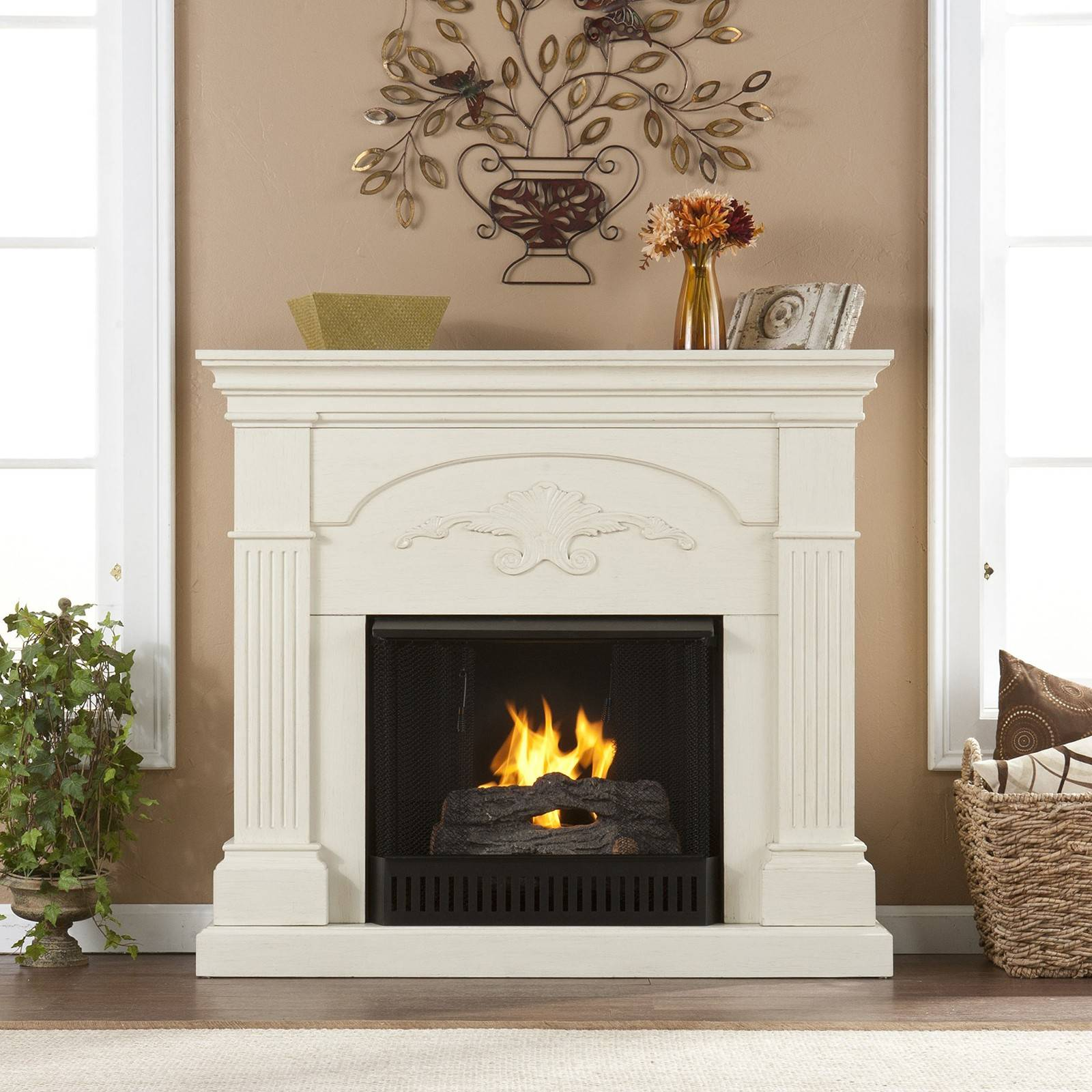 Getting a new fireplace doesn't have to be a big construction job.