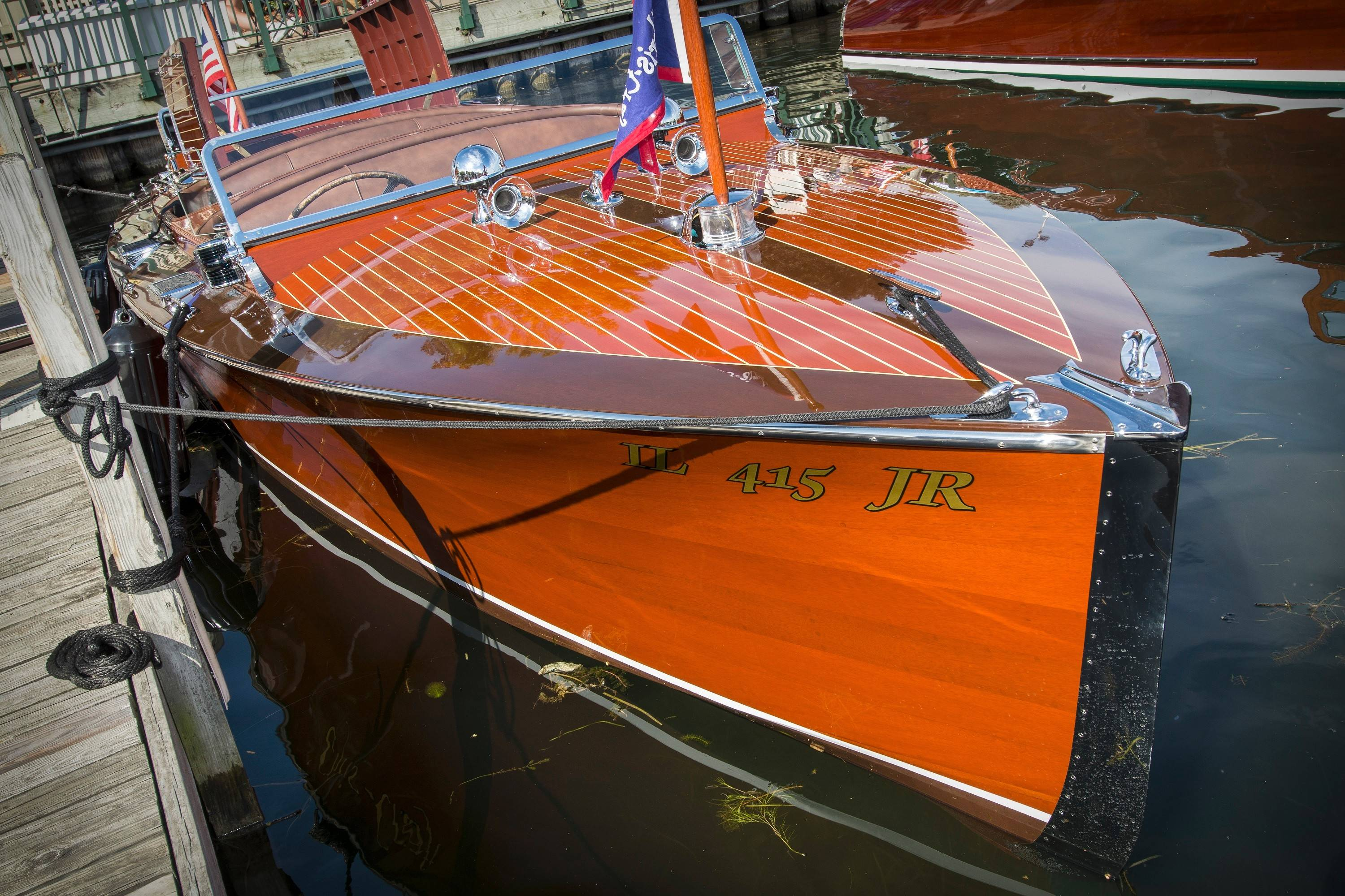 Millard said Chris-Craft manufactured about 60 runabouts in the decade leading up to World War II, and his 1937 model is one of about 15 from that period left.